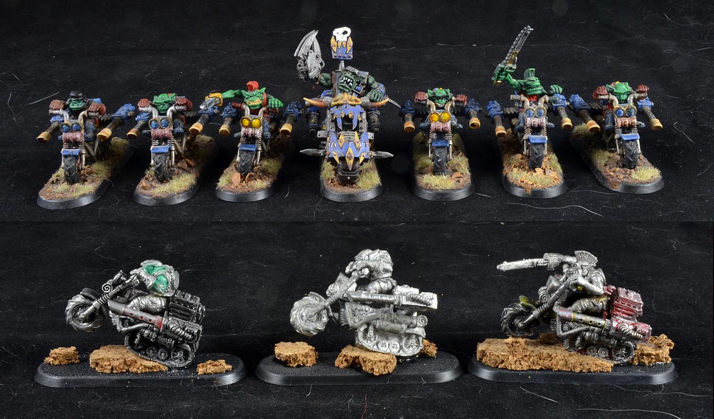 Orks, Rt, War Bikes, Warhammer 40,000