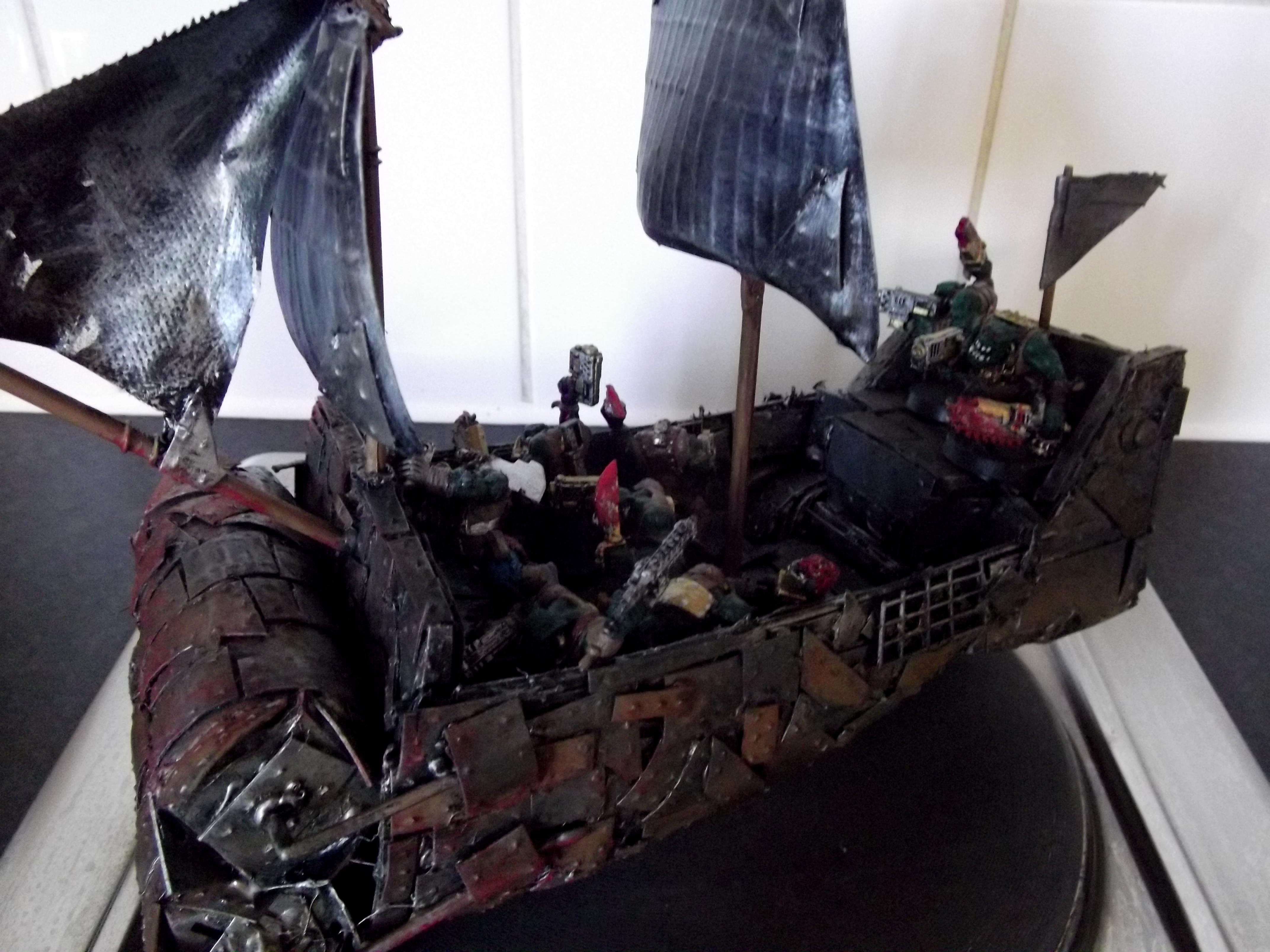 Battlewagon, Conversion, Deffrolla, Freebooter, Looted, Orks, Pirate, Scratch Build, Ship, Wagon