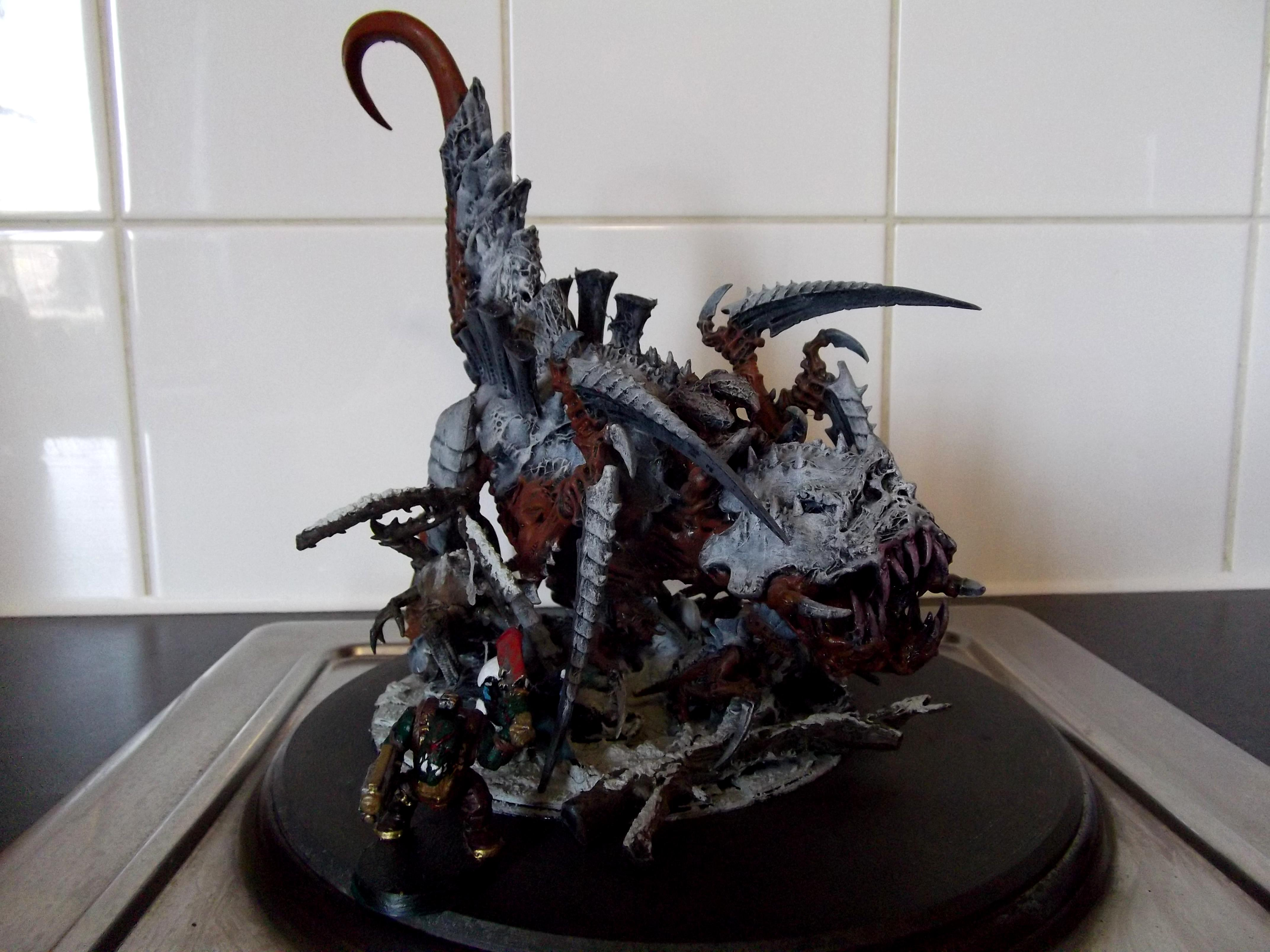 Action Pose, Conversion, Scenic, Scratch Build, Scythed Heirodule, Tyranids, Warhammer 40,000