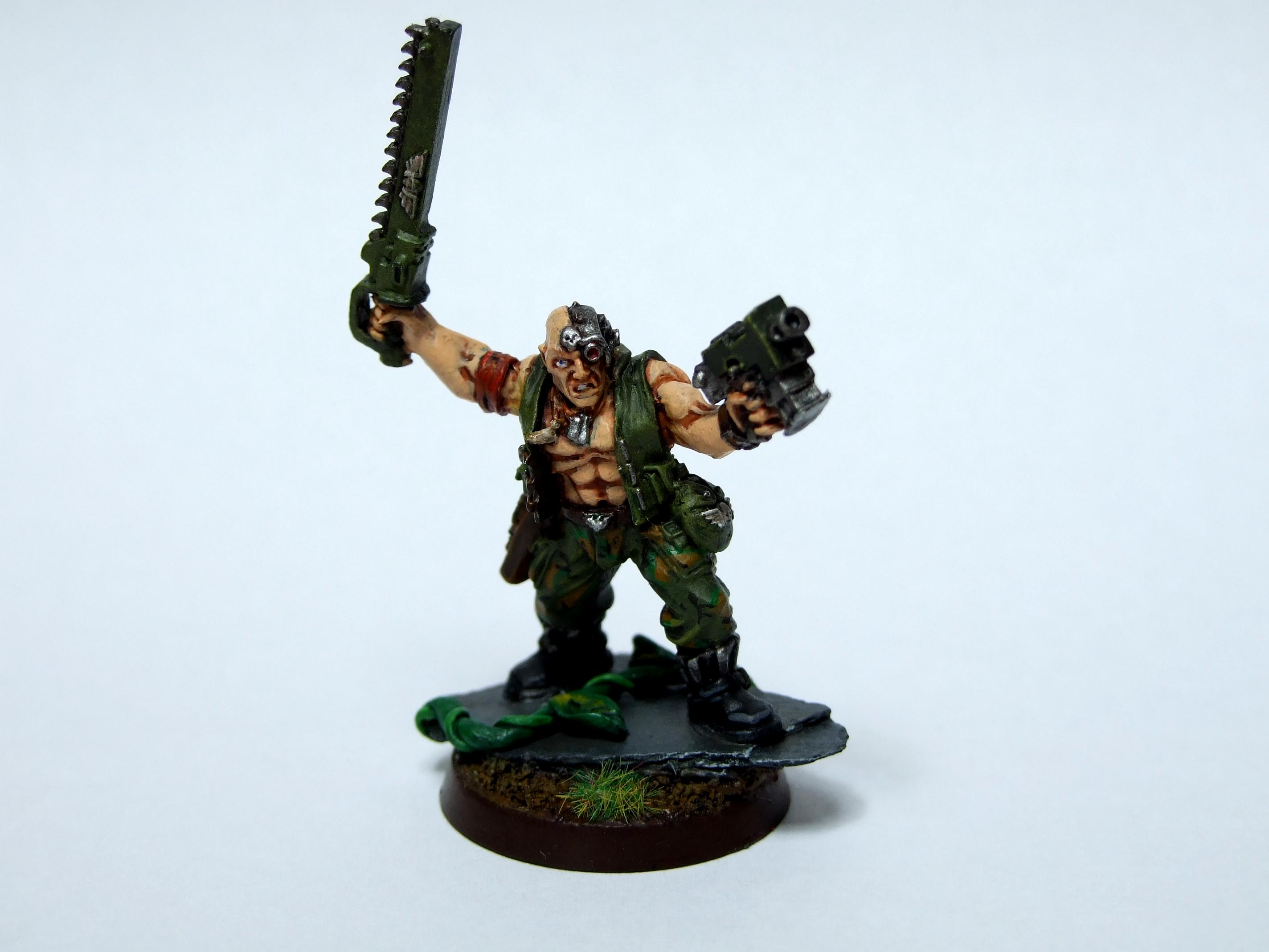 Catachan, Imperial Guard, Jungle, Oficer, Warhammer 40,000