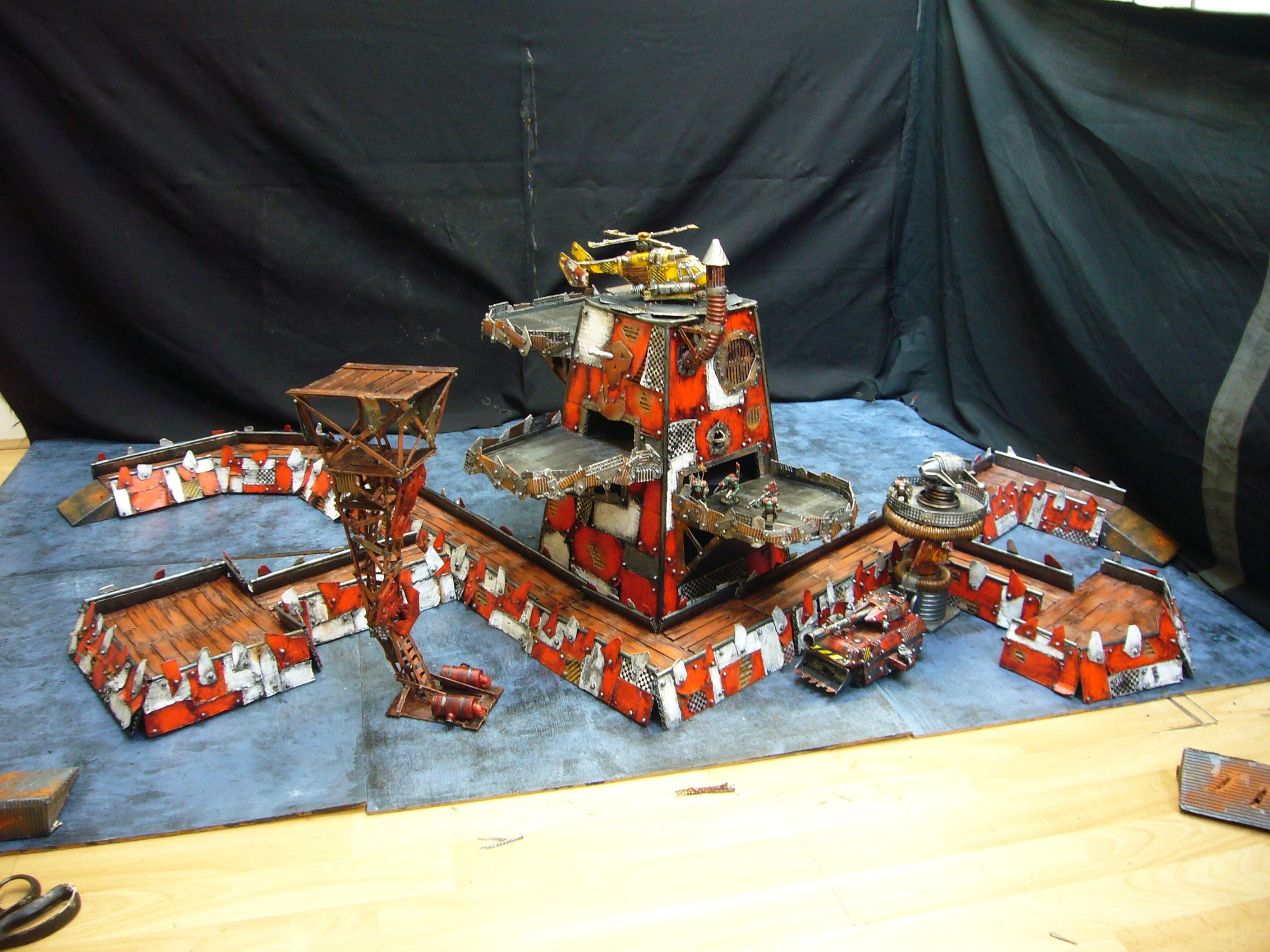 Helecopter, Landing Pad, Orks, Orky, Terrain, Trench