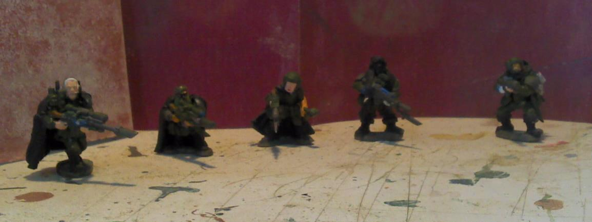Imperial Guard, half vet squad feral troopers