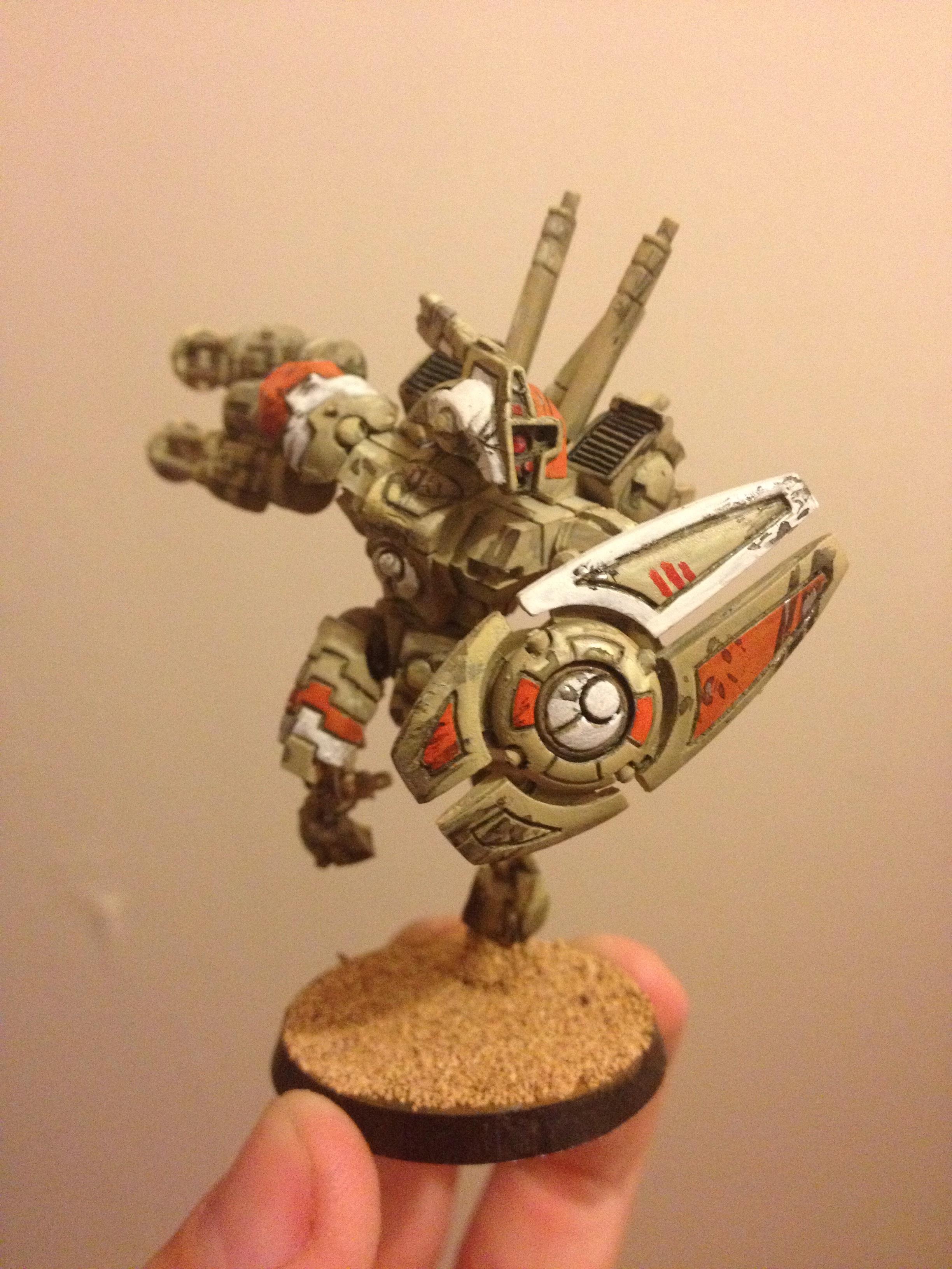Battlesuit, Commander, Desert, Tau, Warhammer 40,000
