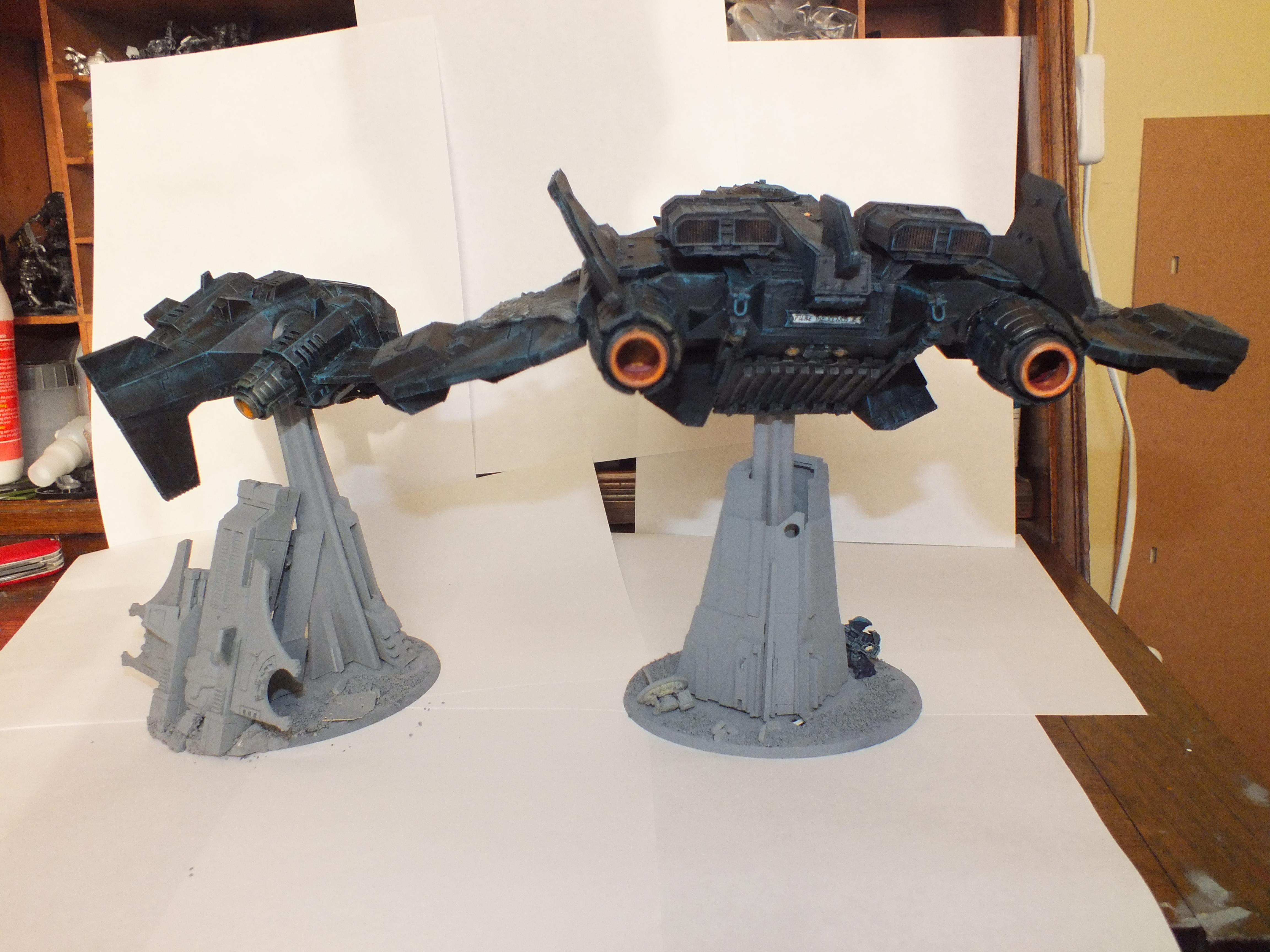 Flying Base, Necrons, Tau, Terrain, Work In Progress