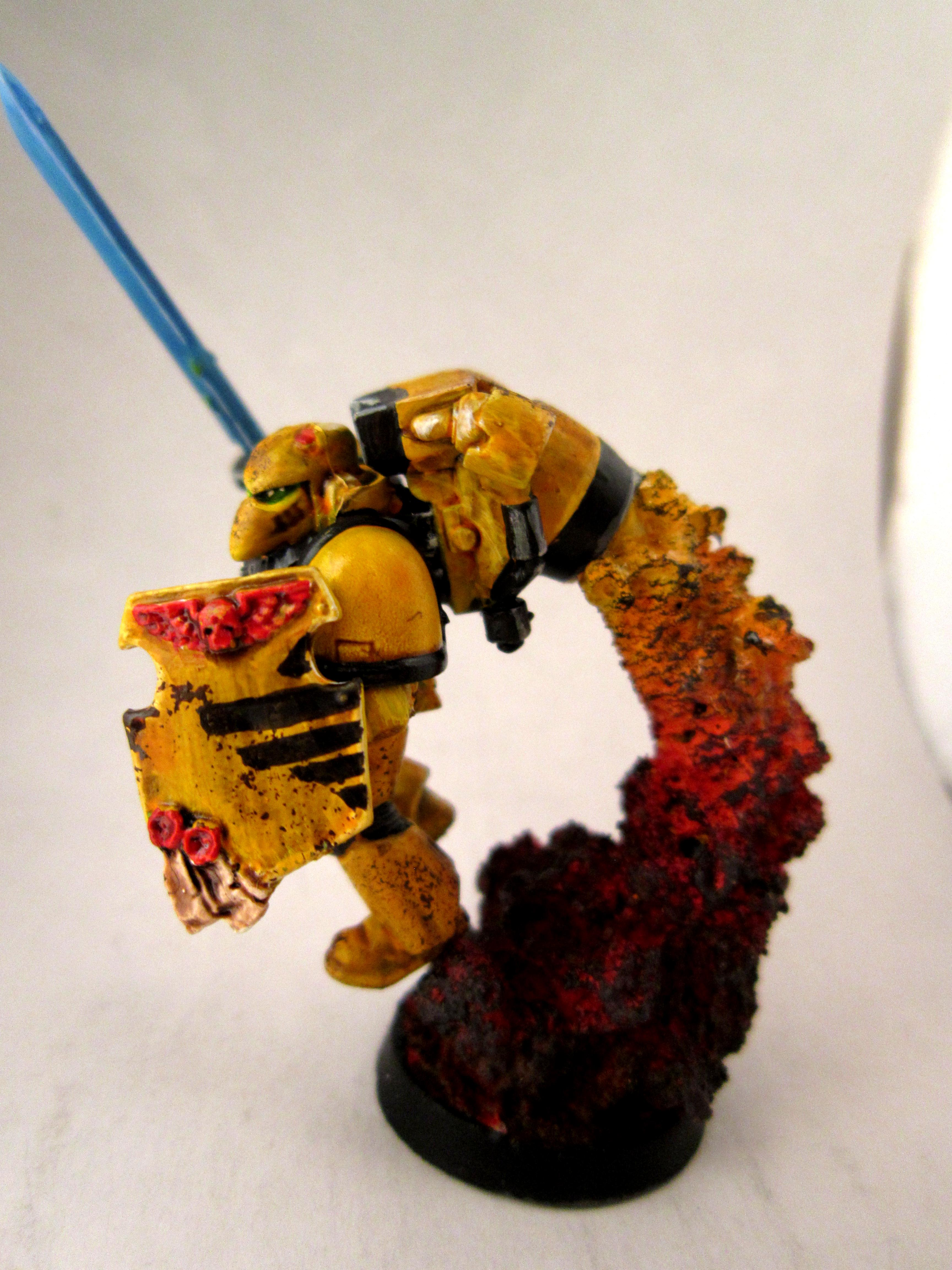 Assault, Imperial Fists, Jump Pack, Power Sword, Space Marines, Yellow