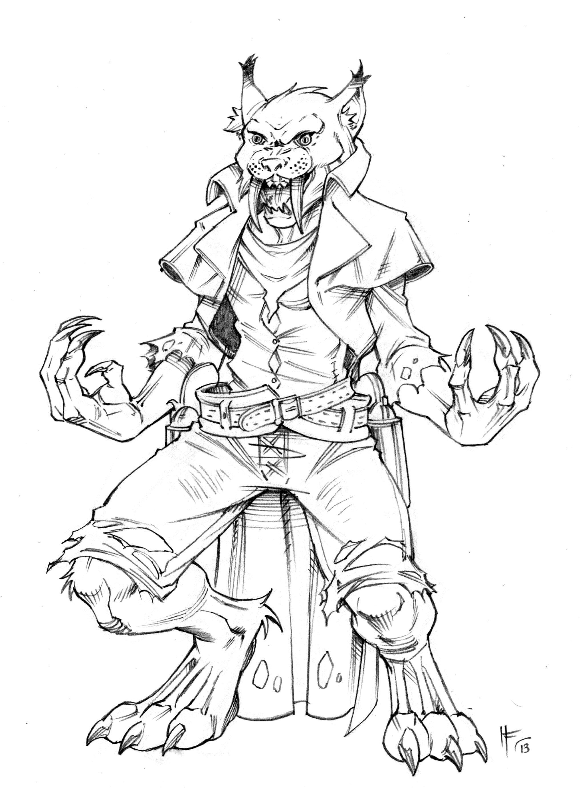 Werecat Sketch