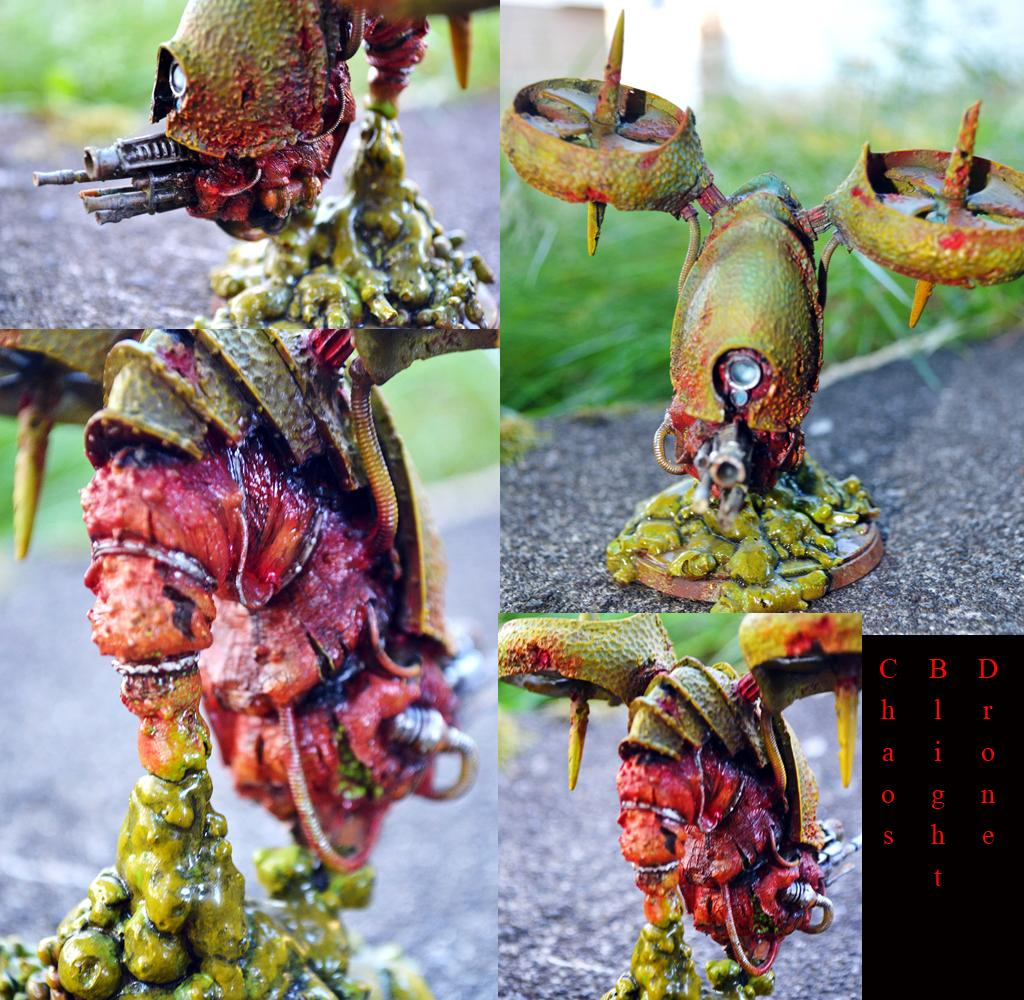 Airbrushed, Chaos Blight Drone, Custom Base, Forge World, Nurgle, Toxic, Warhammer 40,000