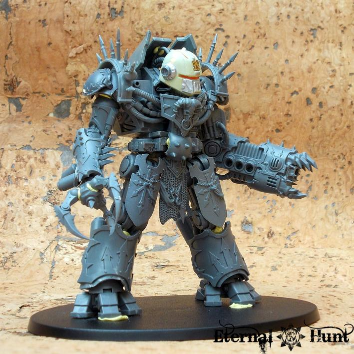 Chaos, Chas Space Marines, Conversion, Daemon Engine, Decimator Counts As, Dreadknight, Khorne, Warhammer 40,000, World Eaters