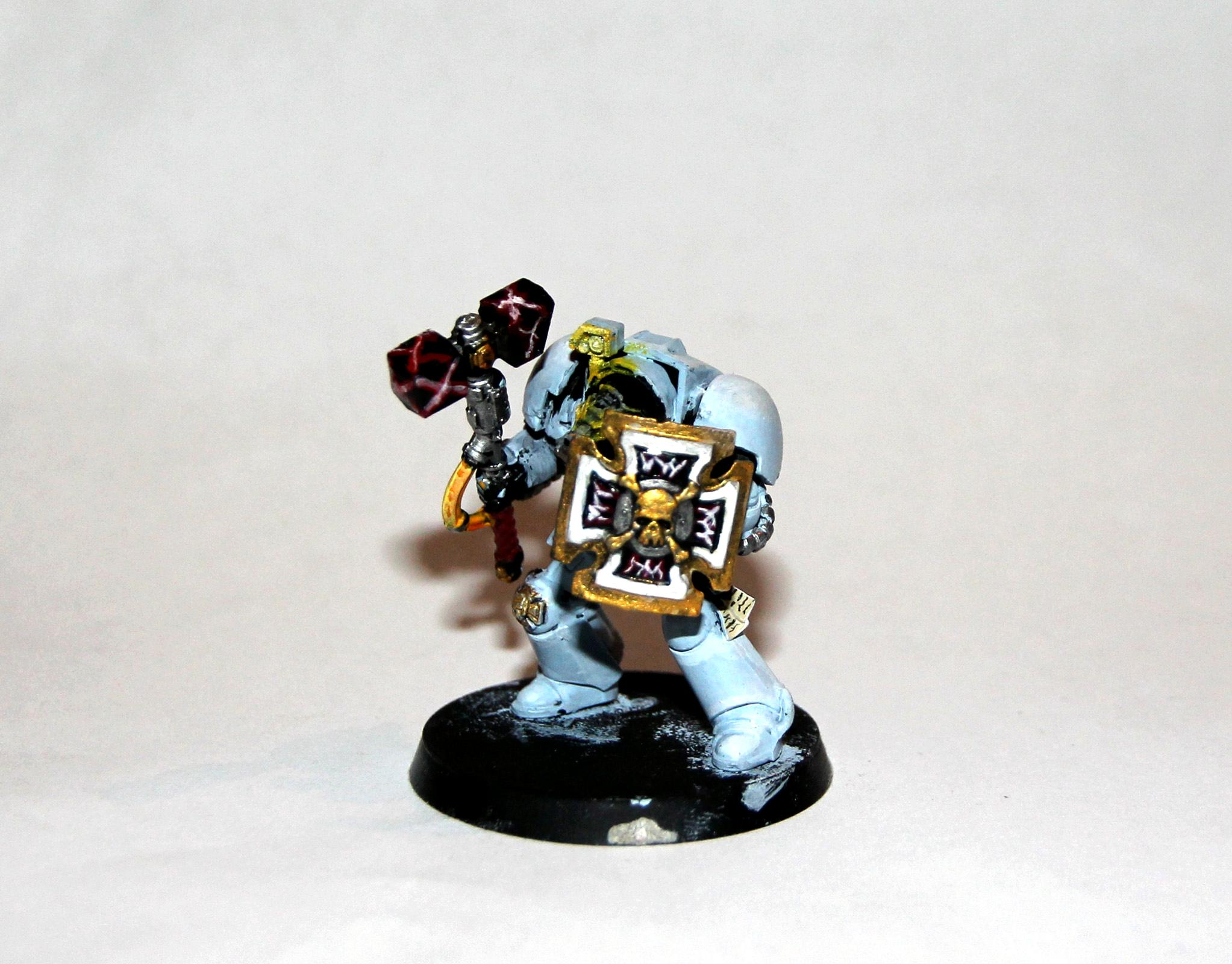 40mmbase, Space Wolfes, Storm Shield, Sw, Terminator Armor, Thunder Hammer, Warhammer 40,000