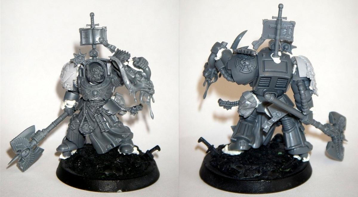 Axe, Blood, Blood Angels, Bloodletters, Book, Conversion, Force Weapon, Head, Librarian, Power Weapon, Space Marines, Terminator Armor, Terminator Librarian, Warhammer 40,000, Work In Progress