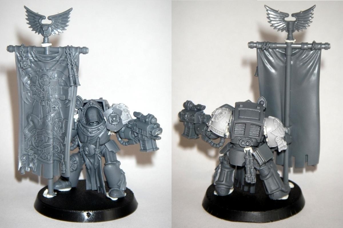 Blood Angels, Company Standard, Standard, Standard Bearer, Storm Bolter, Terminator Armor, Warhammer 40,000