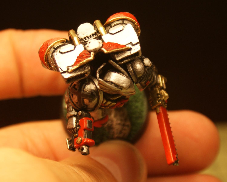 Assault Marines, Custom Eagle Helmet, Doom Eagles, Space Marines