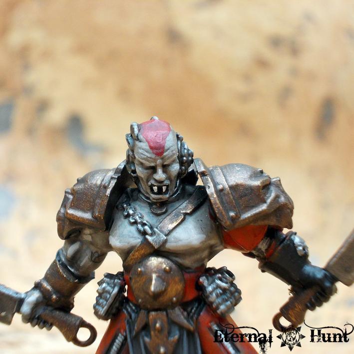 Berzerker, Chaos, Chaos Space Marines, Conversion, Gladiator, Khorne, Khorne's Etermal Hunt, Warhammer 40,000, World Eaters