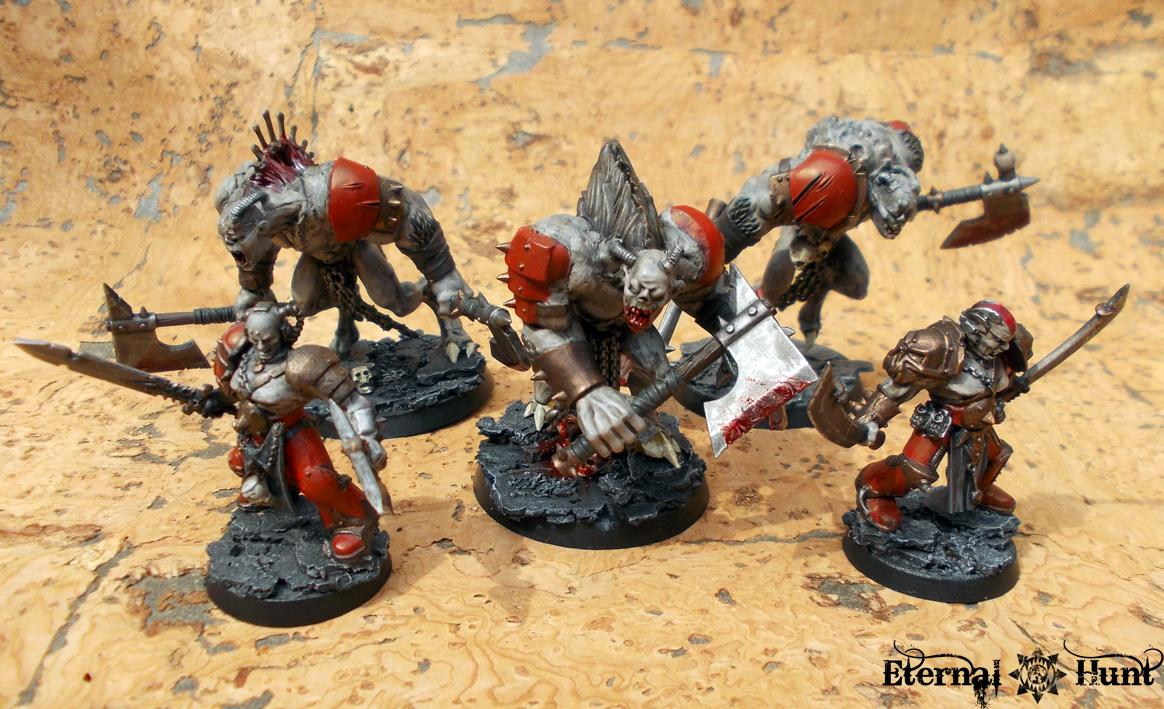 Berzerker, Chaos, Chaos Space Marines, Chaos Spawn, Conversion, Forsaken, Gladiator, Khorne, Khorne's Etermal Hunt, Warhammer 40,000, World Eaters