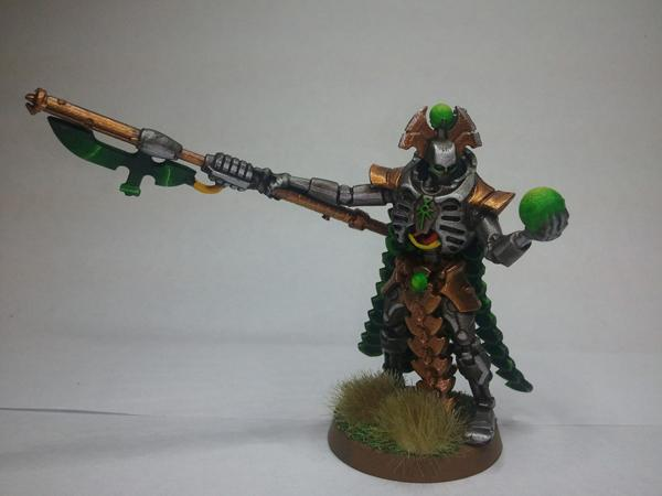 Necron Overlord (first attempt at painting a glowing orb)