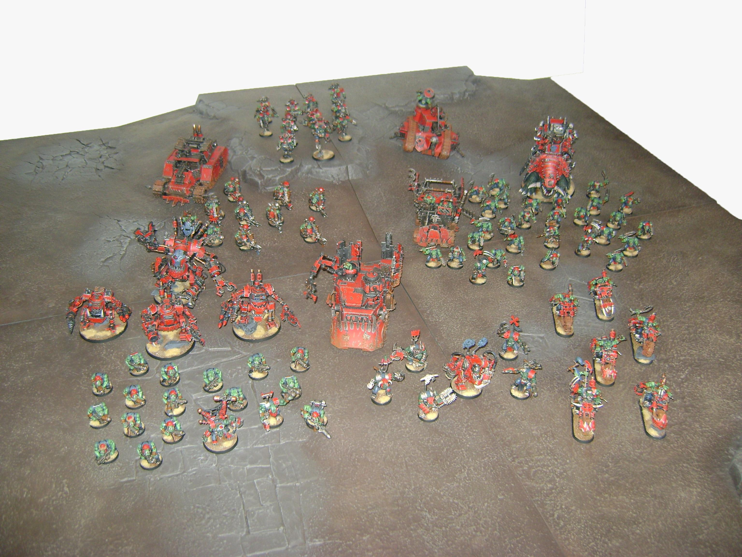 Army, Mobs, Orks, Red, Red Orks