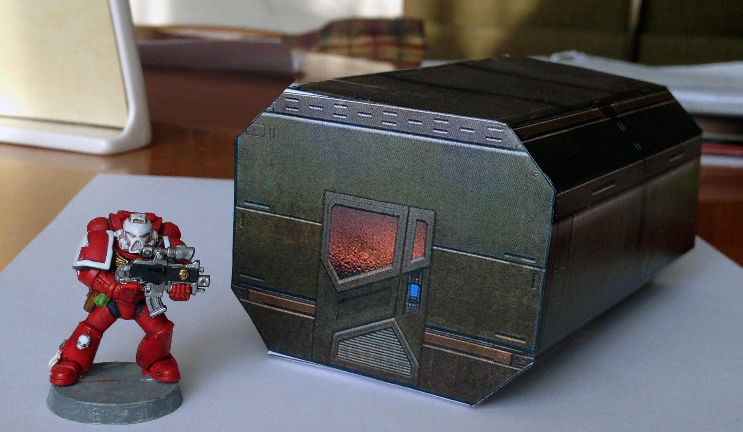 Papercraft, Pod, Shelter, Terrain, Warhammer 40,000
