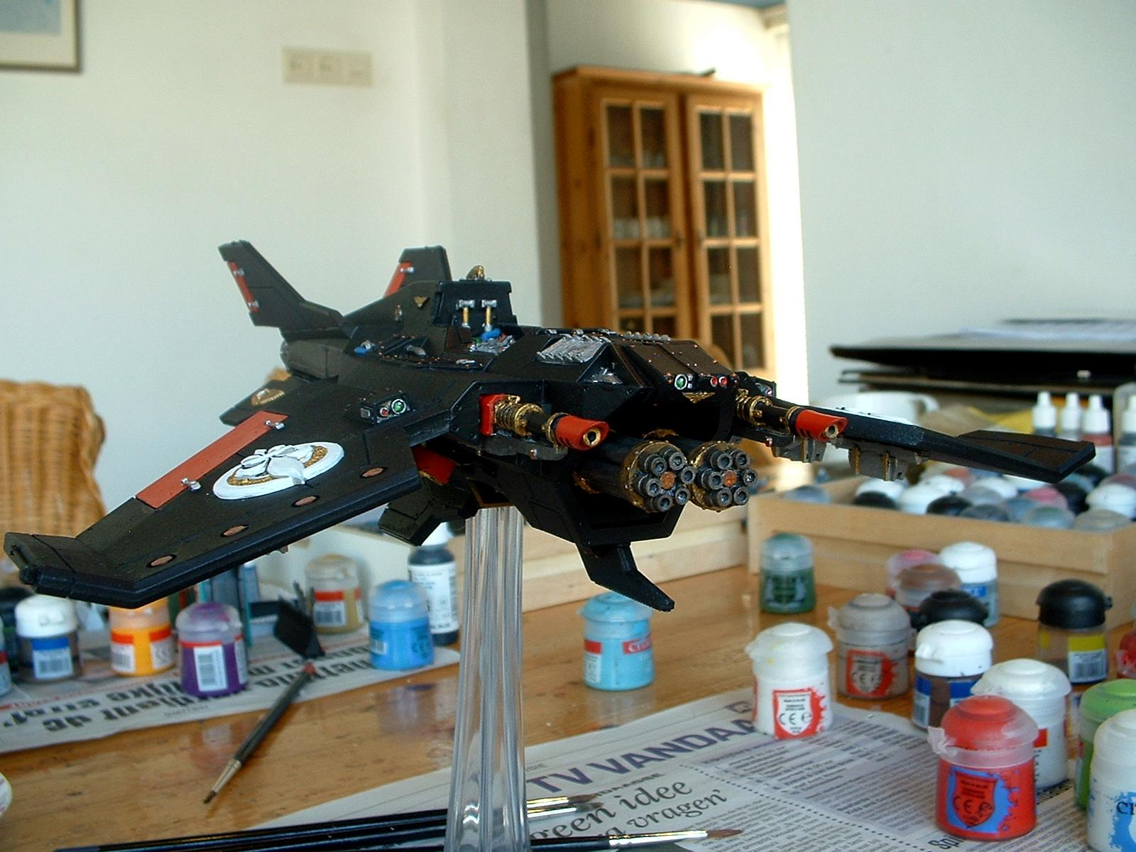 Adepta Sororitas, Avenger Strike Fighter, Flyer, Forge World, Sisters Of Battle, Voss Pattern Lightning