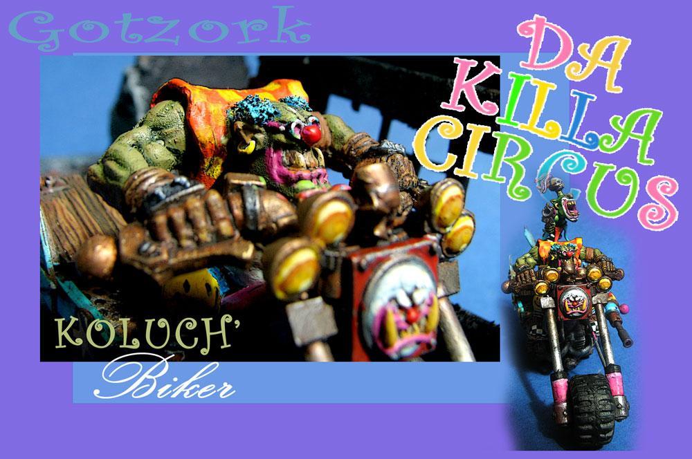 Bike, Conversion, Figurine, Gotzork, Humor, Killa Circus, Machine, Miniature, Orcs, Orks, Warhammer40000, Wk40