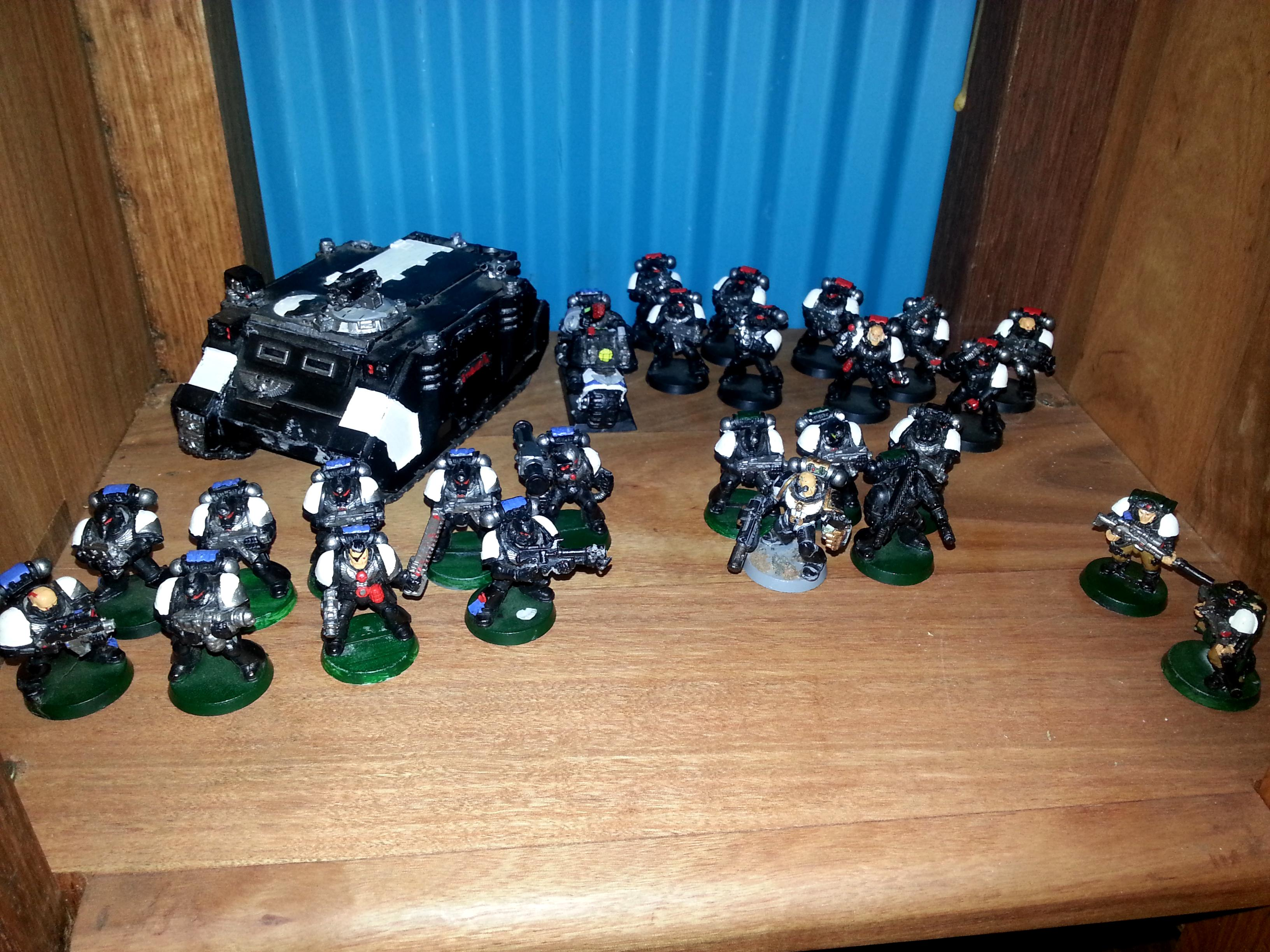 Bike, Black, Force, Rhino, Scouts, Snipers, Space, Space Marines, Templar