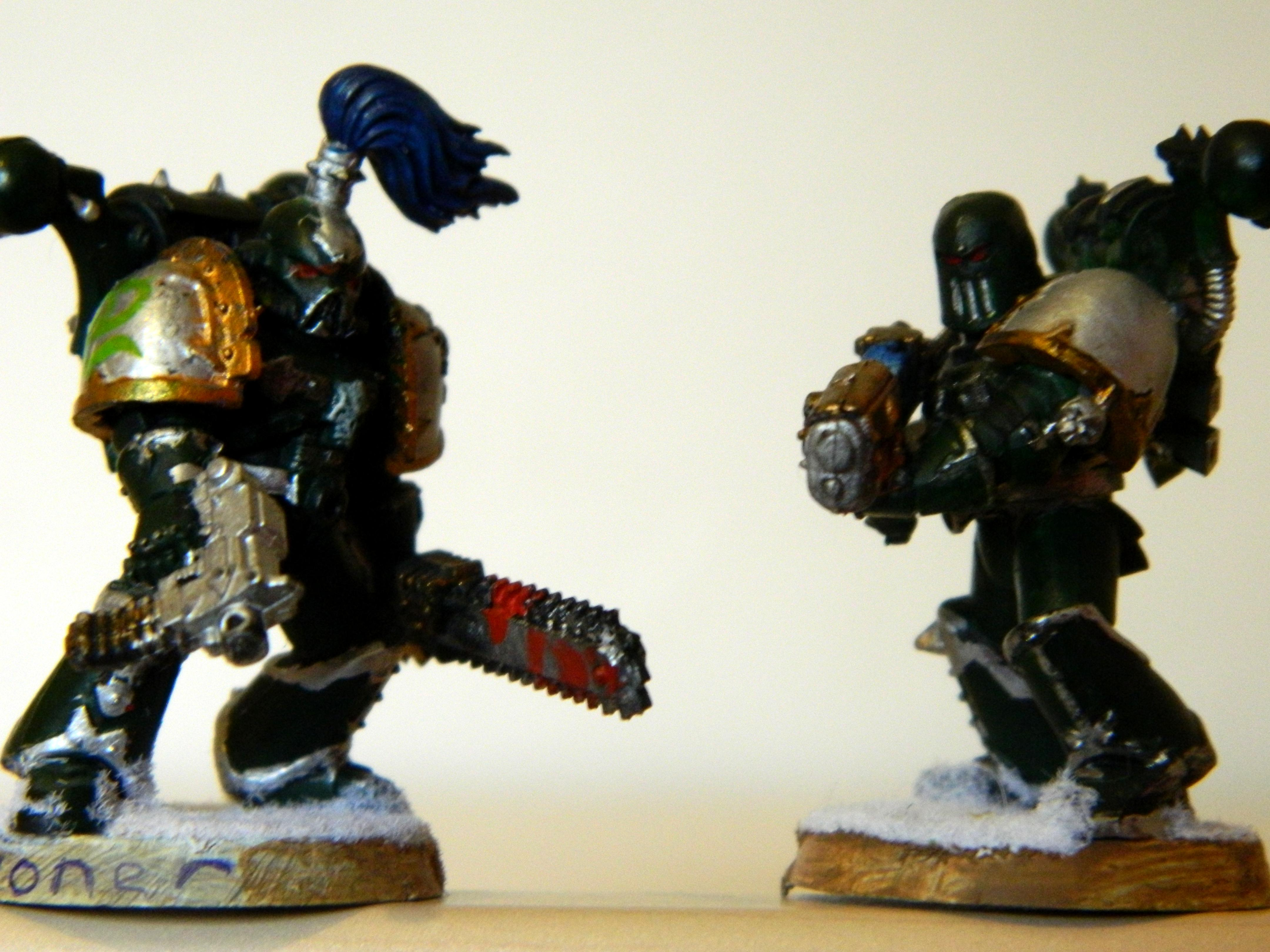 Alpha, Blood, Chaos, Chaos Space Marines, Combat, Conversion, Pair, Snow