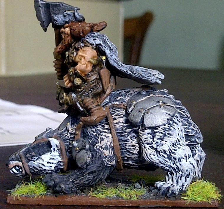Mantic Dwarf Brock Rider