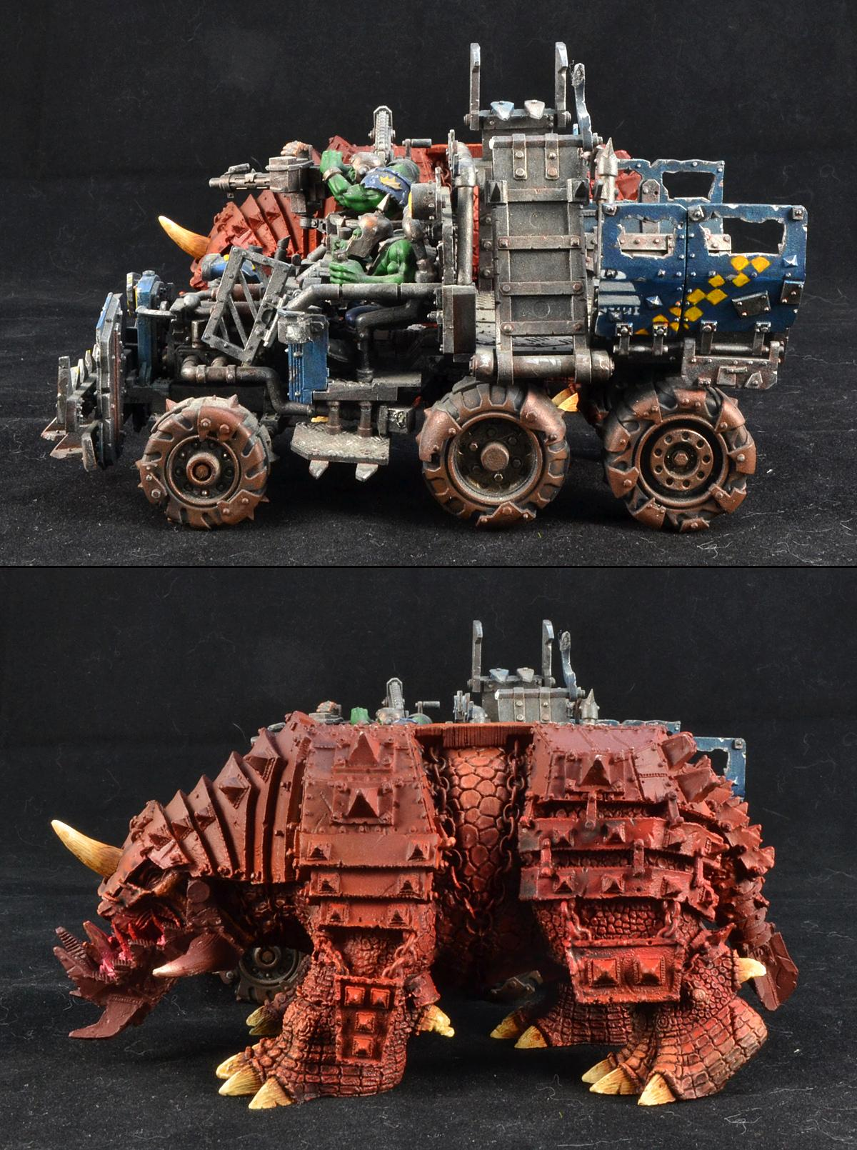 Big Squiggoth, Orks, Size Comparison, Squiggoth, Warhammer 40,000