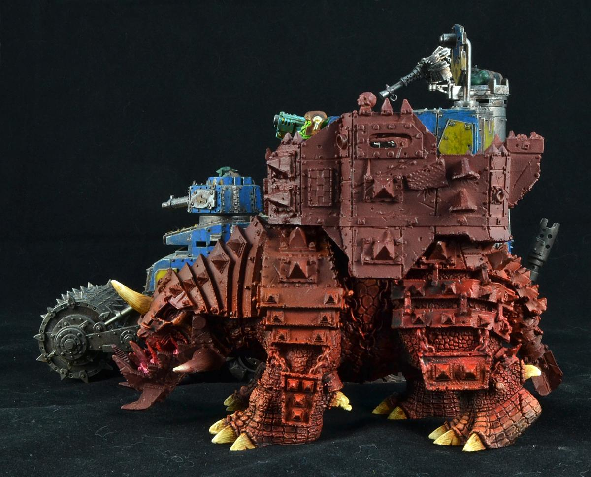 Big Squiggoth, Orks, Size Comparison, Warhammer 40,000