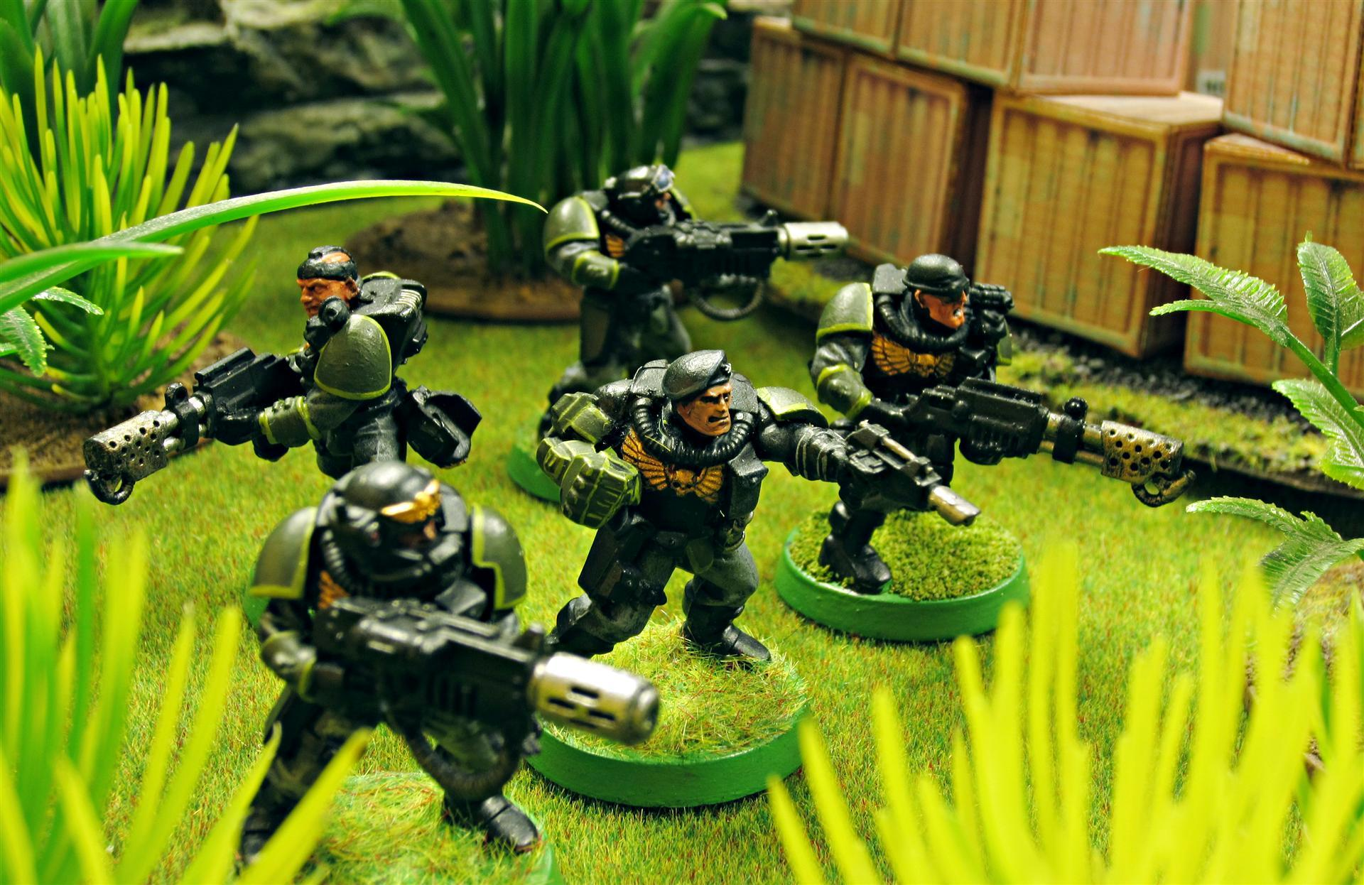 Astra Militarum, Carapace, Carapace Armour, Commandos, Company Command Squad, Company Commander, Flamer, Guard, Imperial, Imperial Guard, Las Pistol, Meltagun, Power Fist, Special Forces, Warhammer 40,000