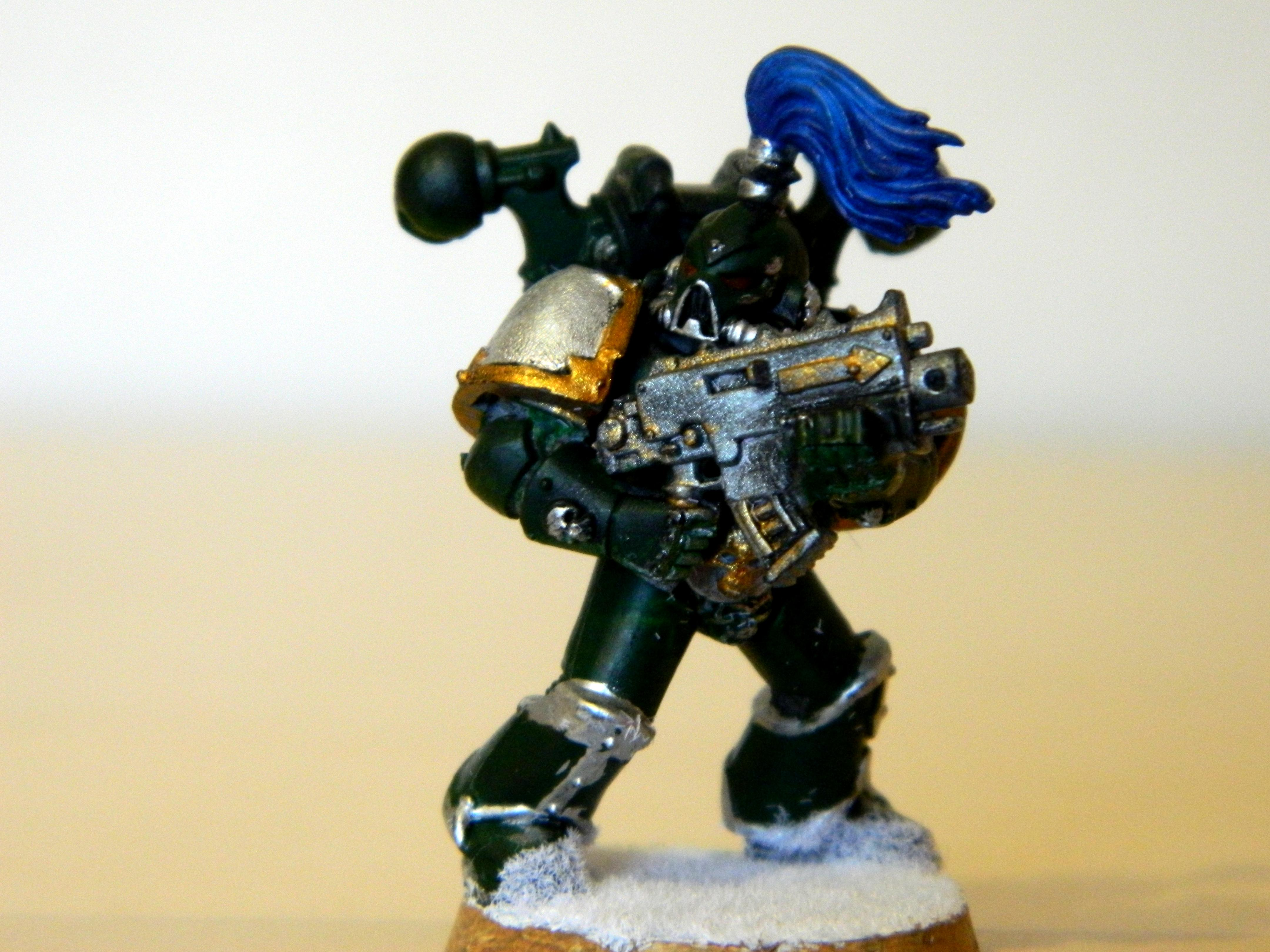 Alpha, Chaos Space Marines, Conversion, Snow, Squad