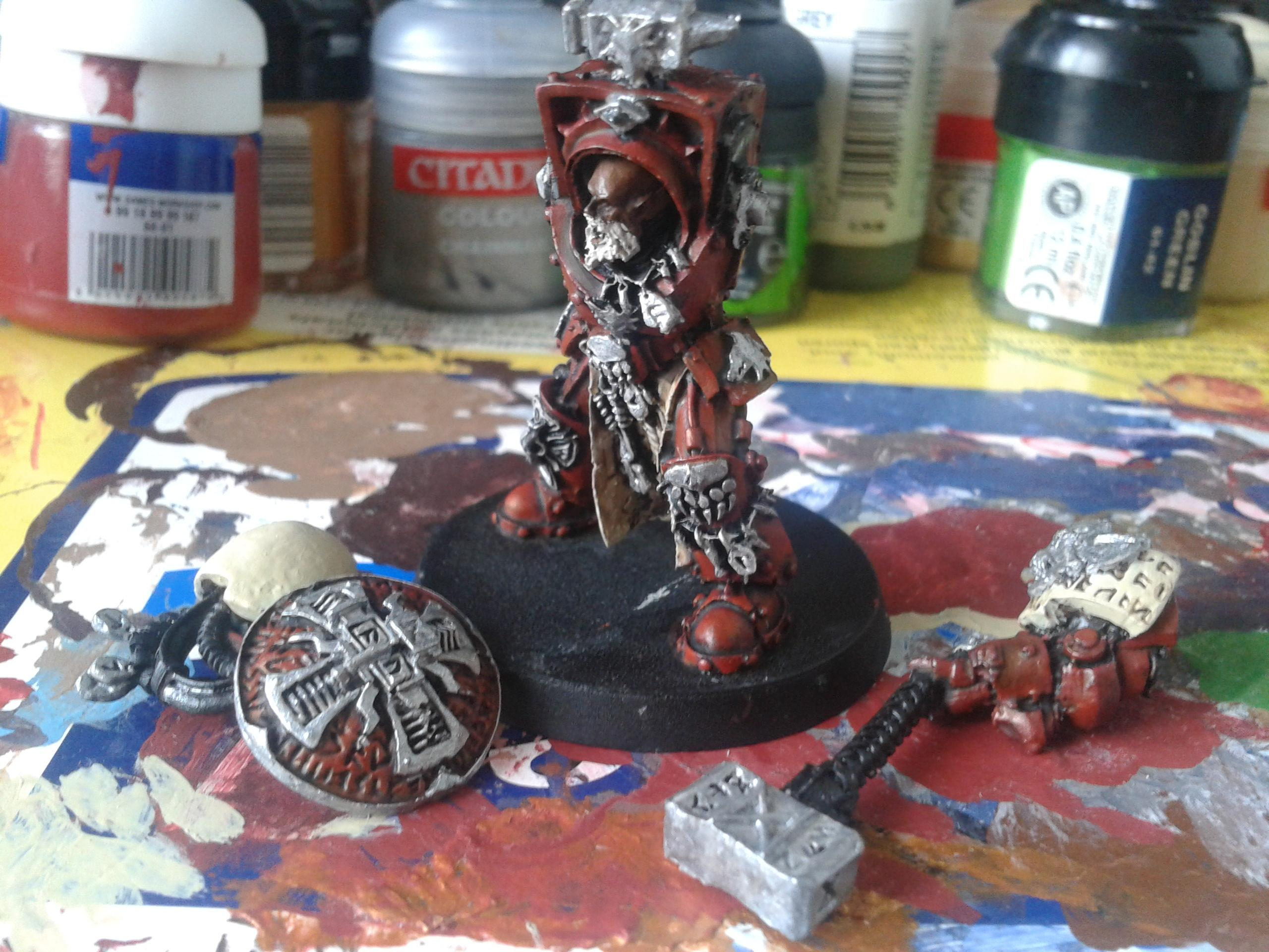 Arjac Rockfist, Blood Ravens, Chapter Master, Deadshot, Gabriel Angelos, Space Marines, Space Wolves, Storm Shield, Terminator Armor, Thunder Hammer, Work In Progress