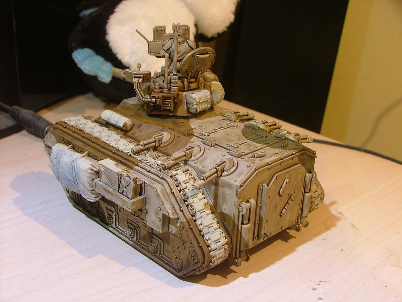 Chimera at a very early stage of painting