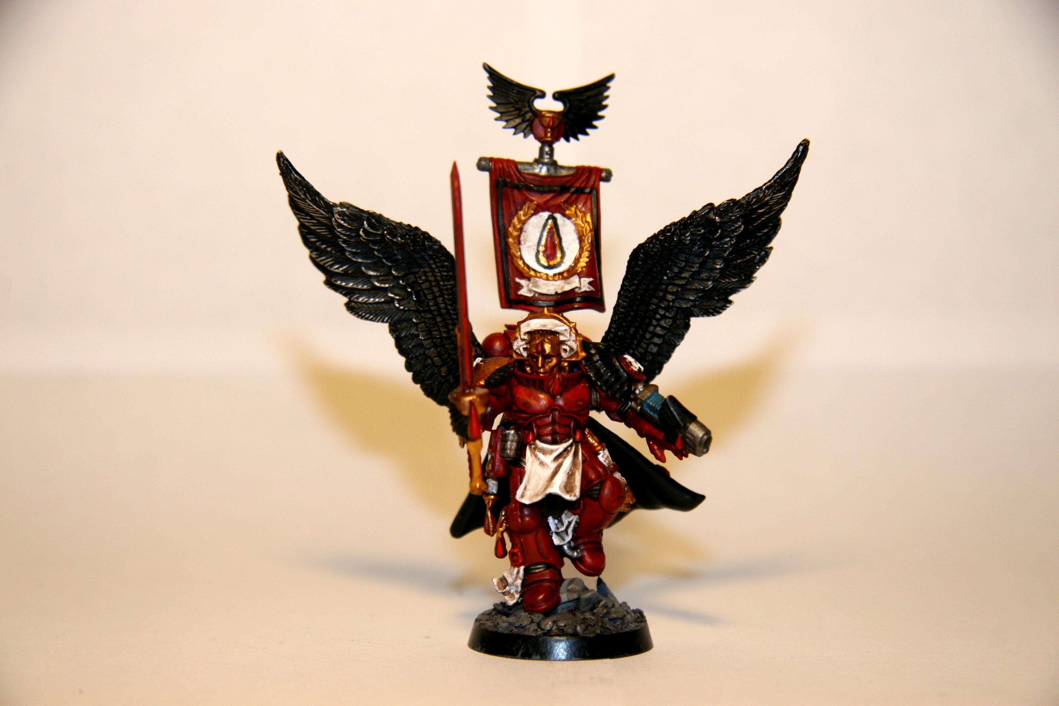 Artificer Armor, Blood Angels, Character, Force Weapon, Mephiston, Plasma Pistol, Winged
