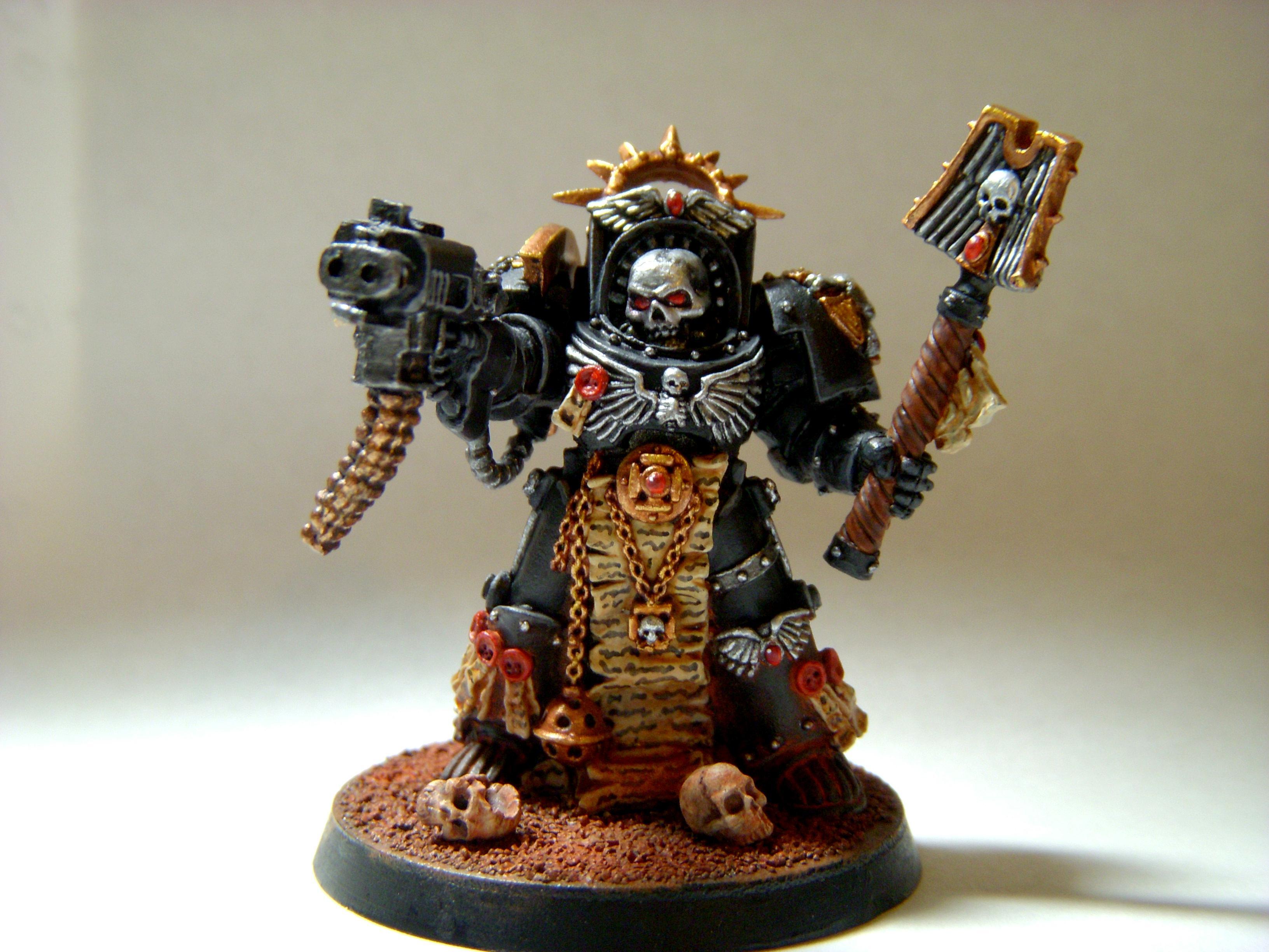 Chaplain, Silver, Silverskulls, Skull, Terminator Armor