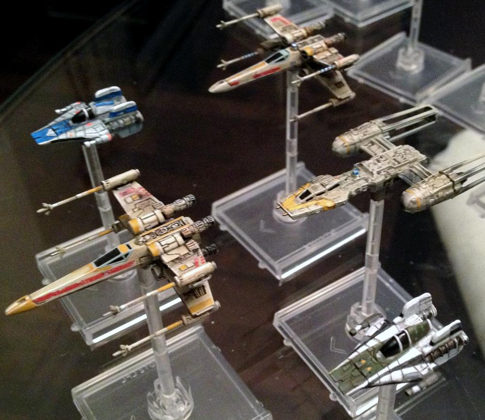 A-wing, Comparison, Custom, Fantasy Flight, Miniatures Game, Scale, X-Wing