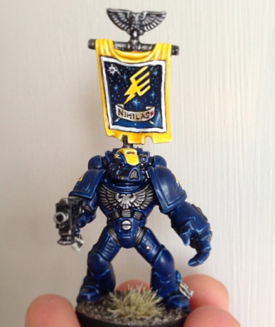 Blue, Death, Death Strike, Layering, Lightning, Non Mainstream, Space Marines, Strike, Sweden, Tabletop Quality, Warhammer 40,000, Wash, Yellow