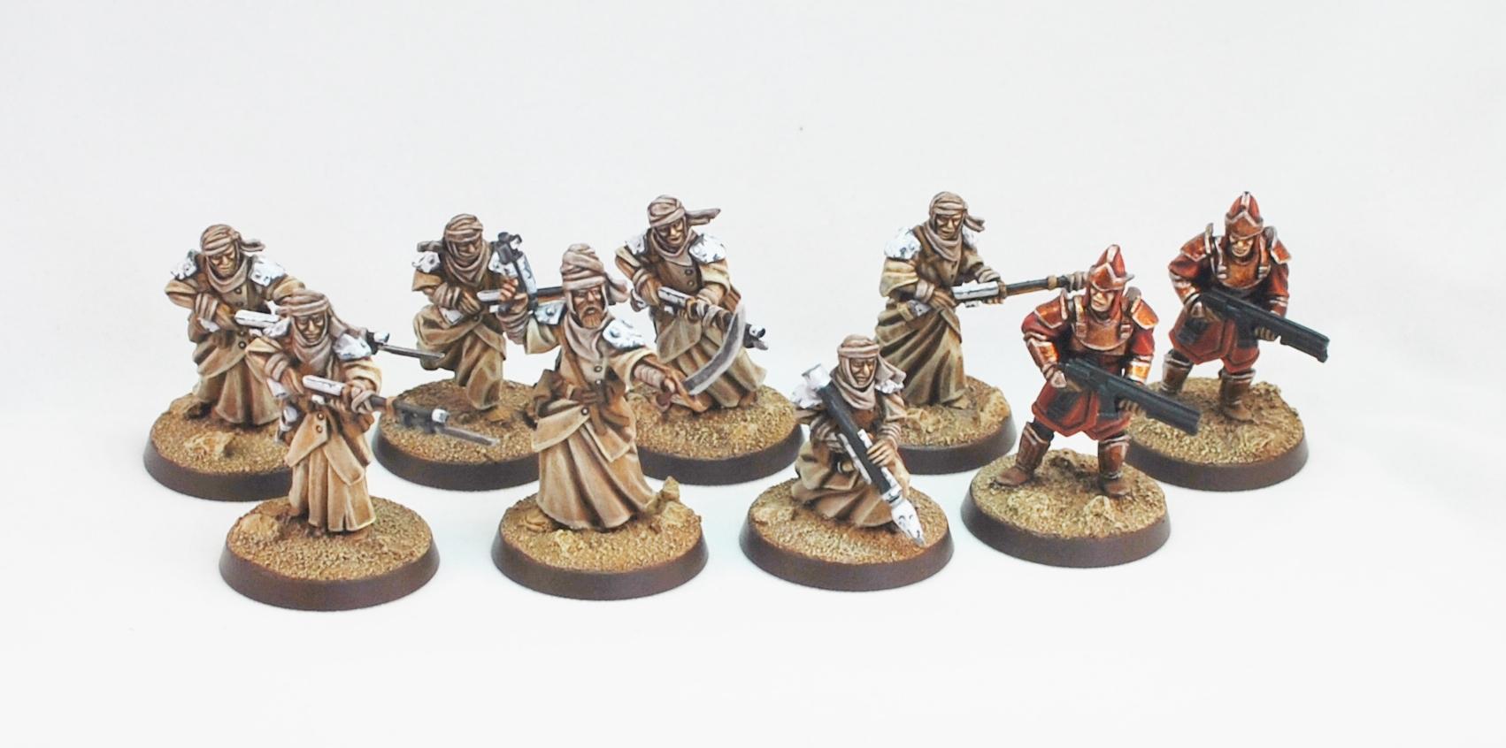 Desert, Desert Raiders, Insurgents, Miniatures Of The North, Tallarn Desert Raiders