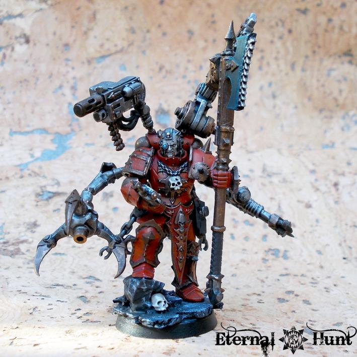 Chaos, Chaos Lord, Chaos Space Marines, Conversion, Huntmaster, Khorne, Khorne's Eternal Hunt, Kitbash, Tech Marine, Warhammer 40,000, Warpsmith, World Eaters