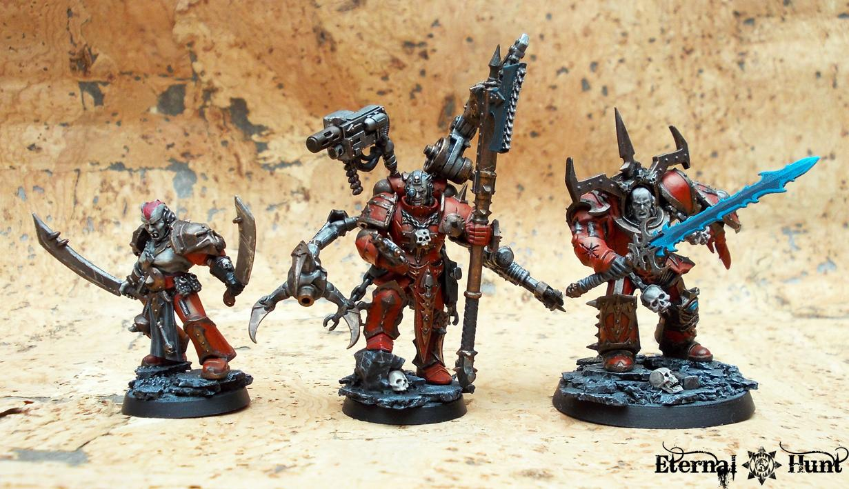 Chaos, Chaos Lord, Chaos Space Marines, Conversion, Huntmaster, Khorne, Khorne's Eternal Hunt, Kitbash, Tech Marine, Warhammer 40,000, Warpsmith, World Eaters
