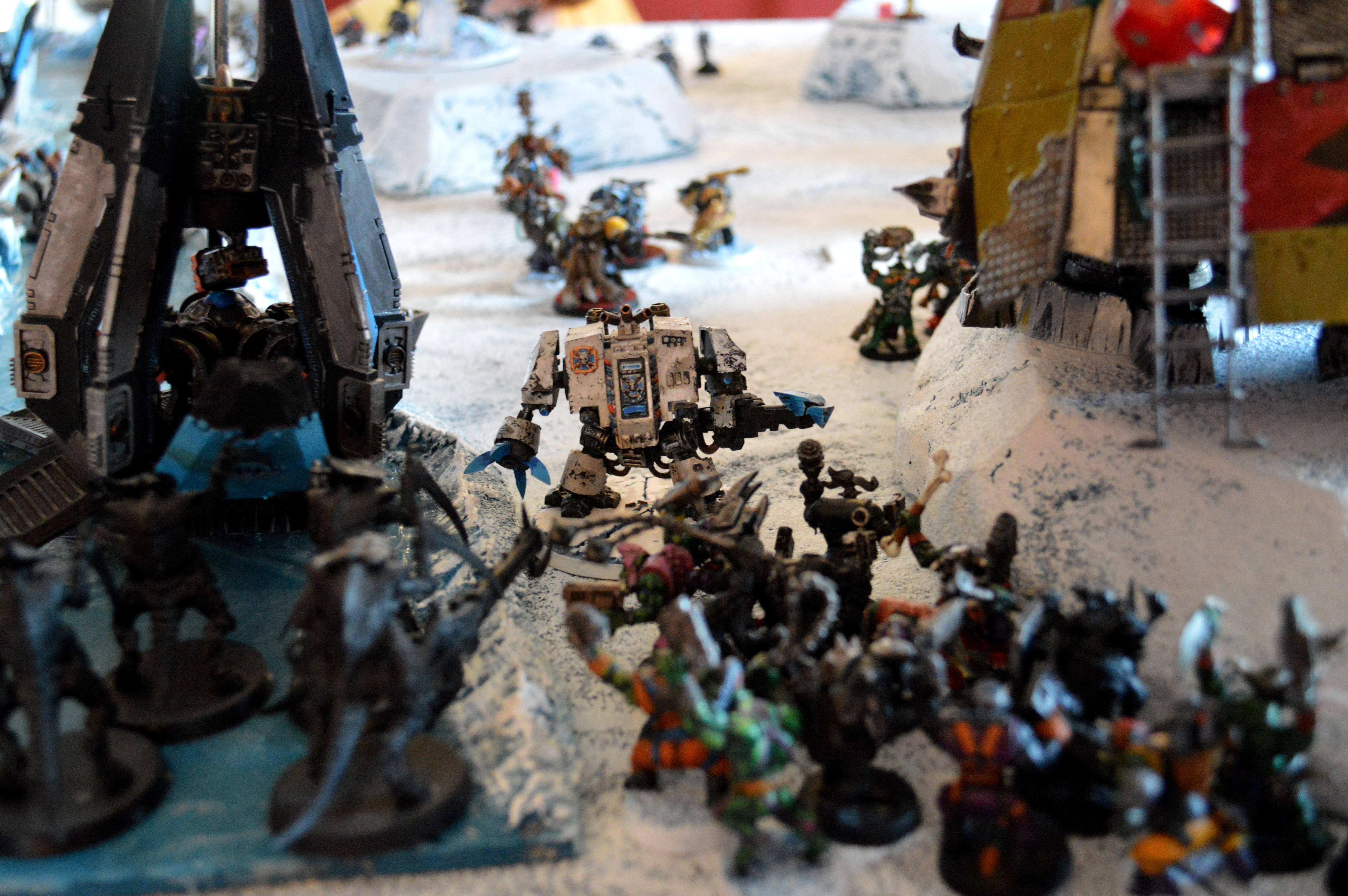 Apocalypse, Ice Angels, Ice Terrain, Orks, Space Marines, Space Wolves, Tyranids, Warhammer 40,000