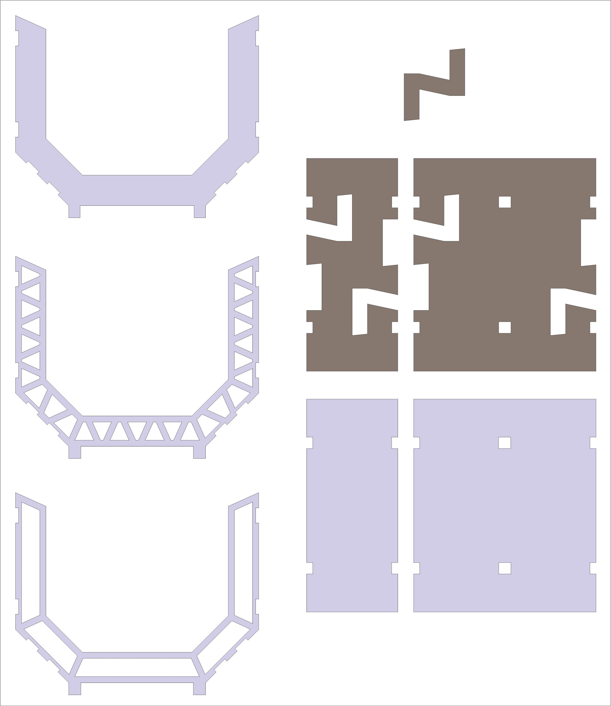 Space Corridors, Flat 2d space corridor pieces