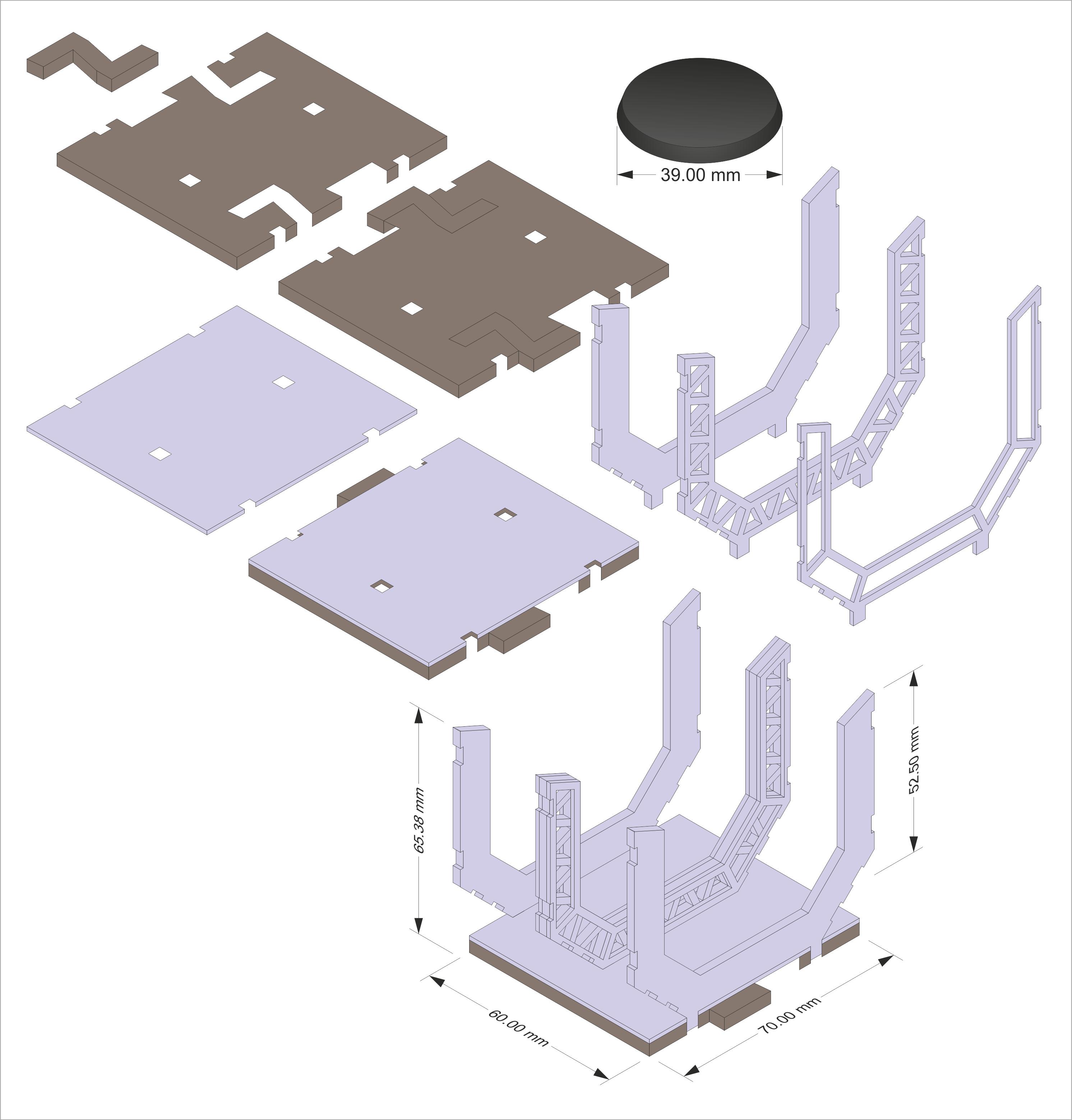 Space Corridors, Space corridor pieces in 3d