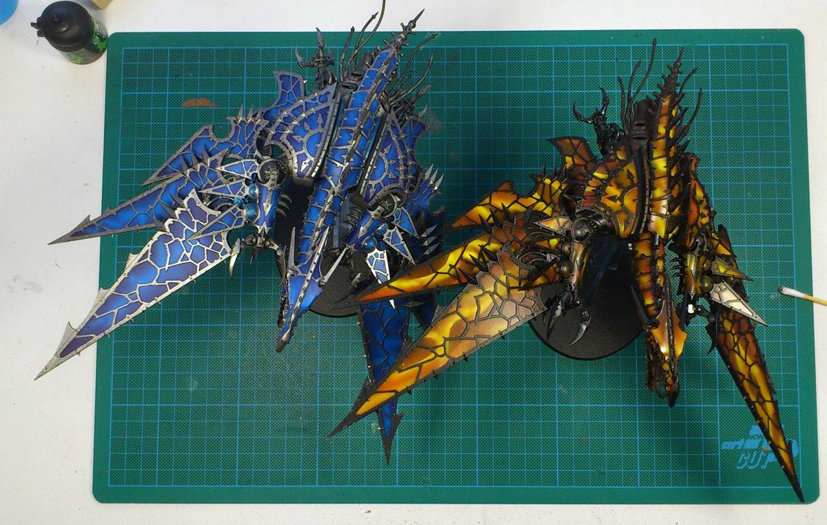 Airbrush, Chaos Space Marines, Fire, Flames, Heldrake
