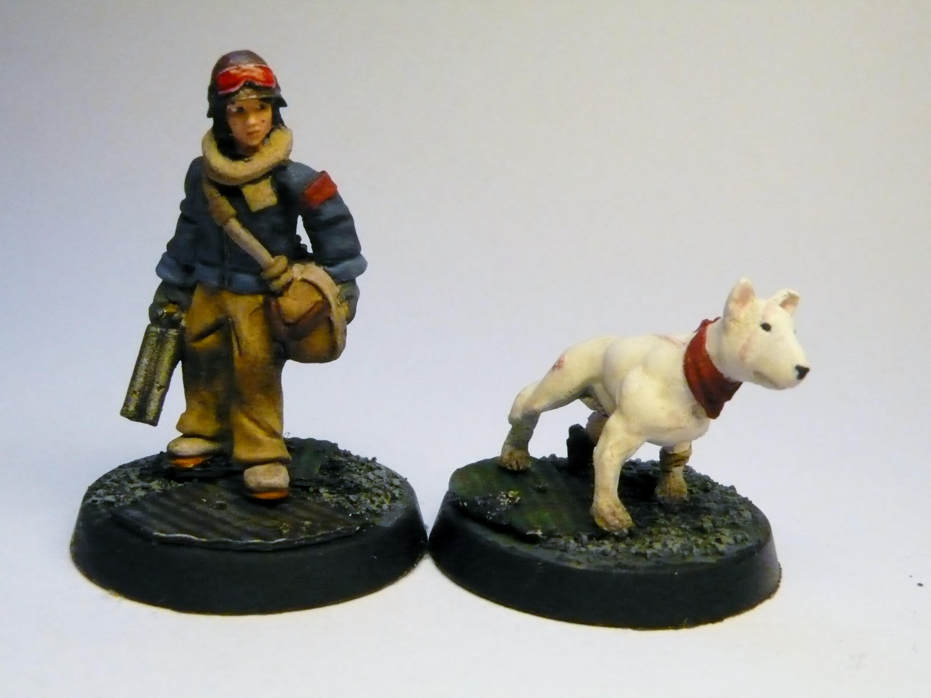 Bag, Dog, Female, Juve, Shotgun, Terrier, White