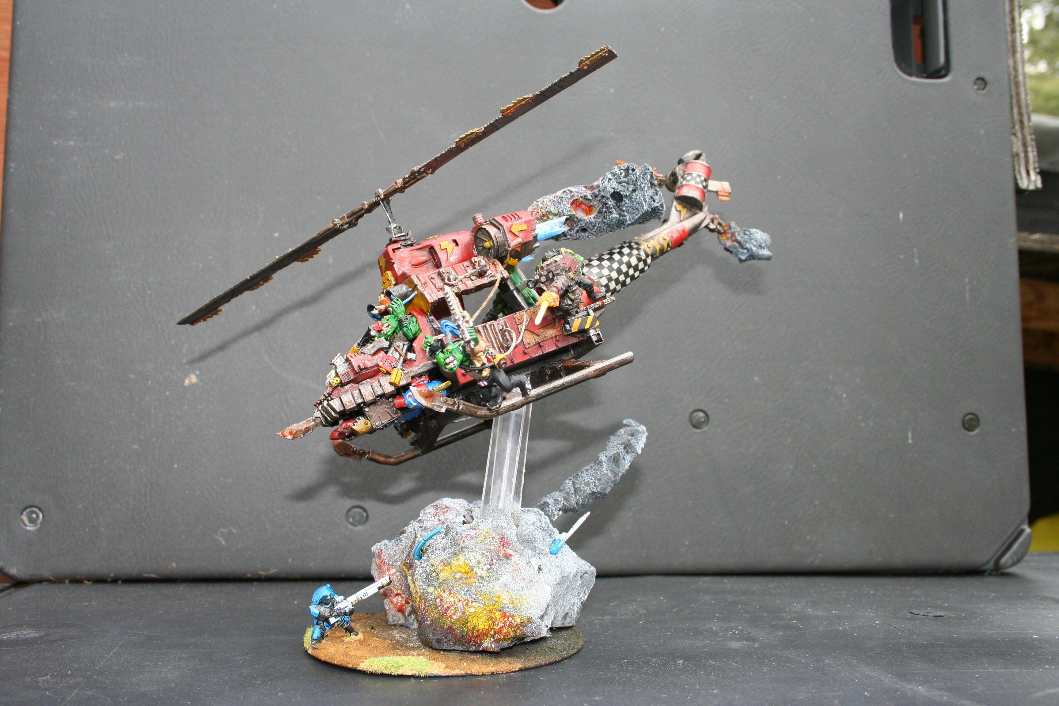 Conversion, Deffkopta, Helicopter, Orks, Warhammer 40,000