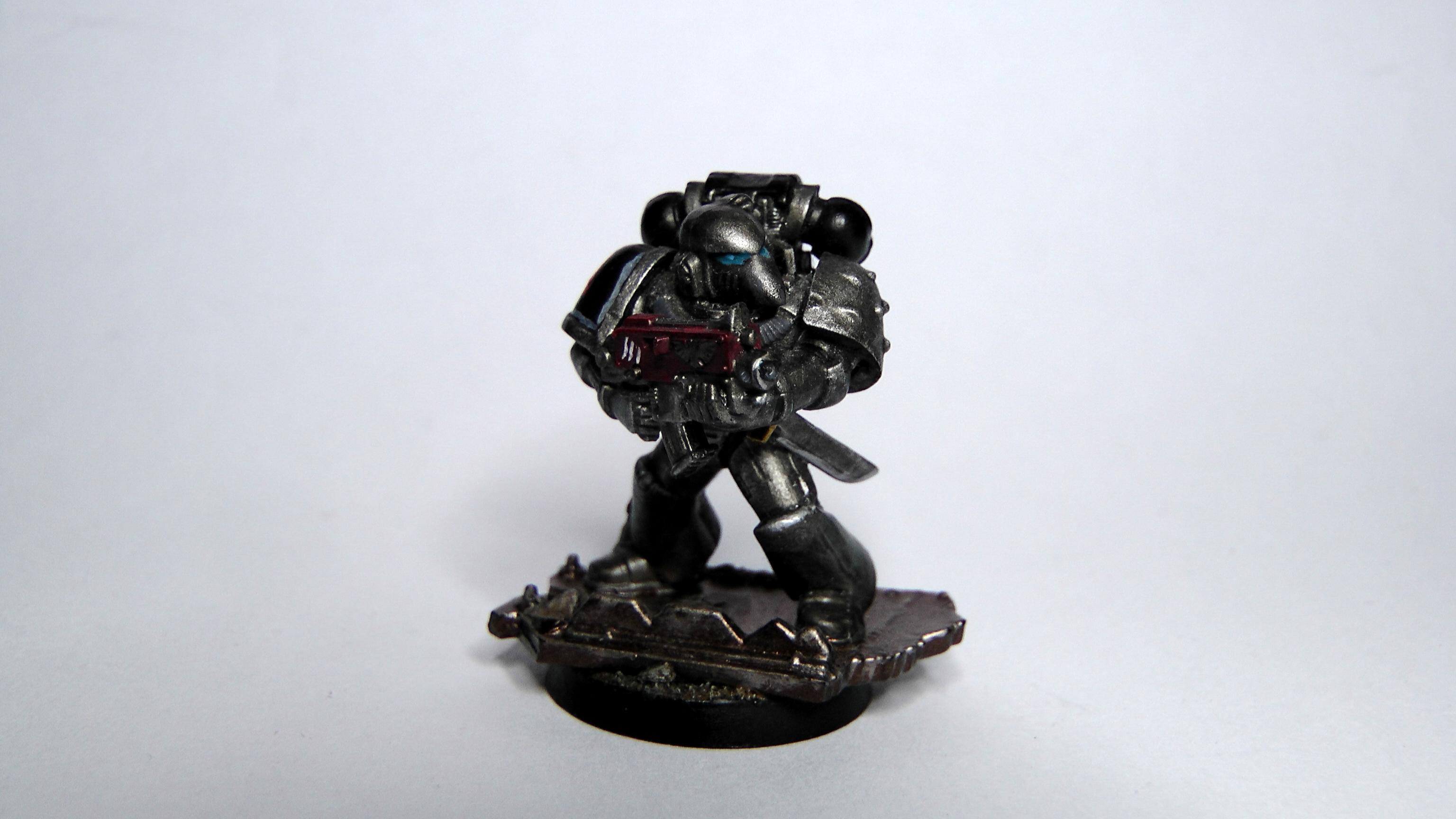 Boltgun, Corvus, Mk6, Silver Skulls, Space Marines, Tactical, Urban Base, Warhammer 40,000