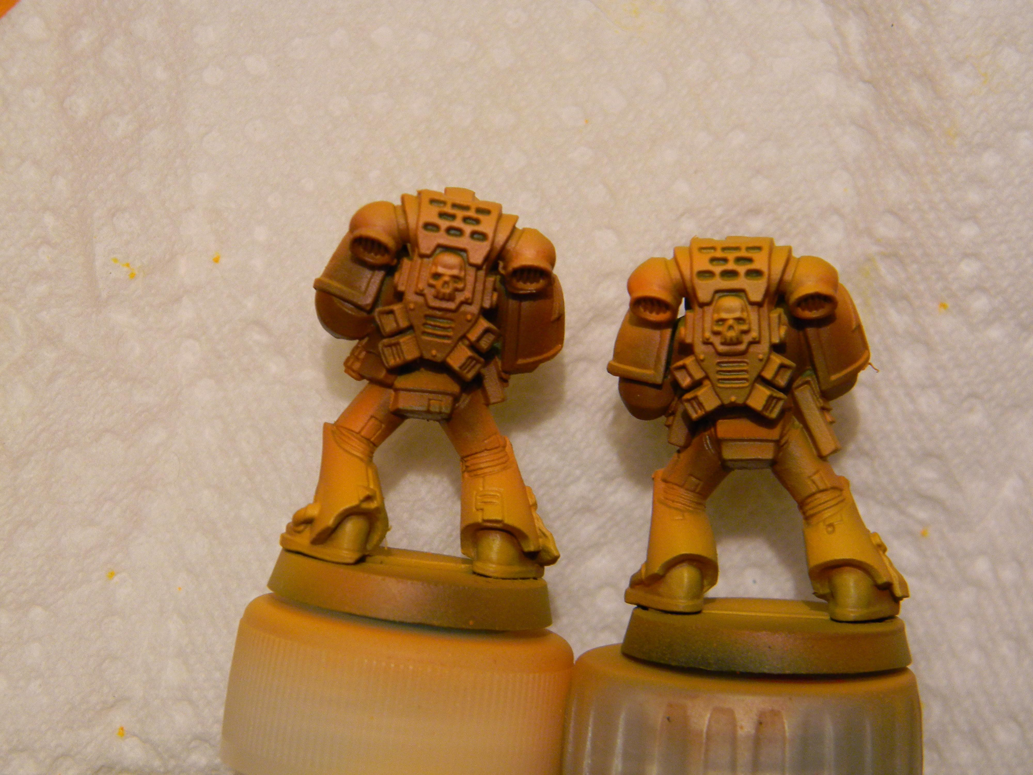 First run (unhighlighted) on left, highlighted on the right