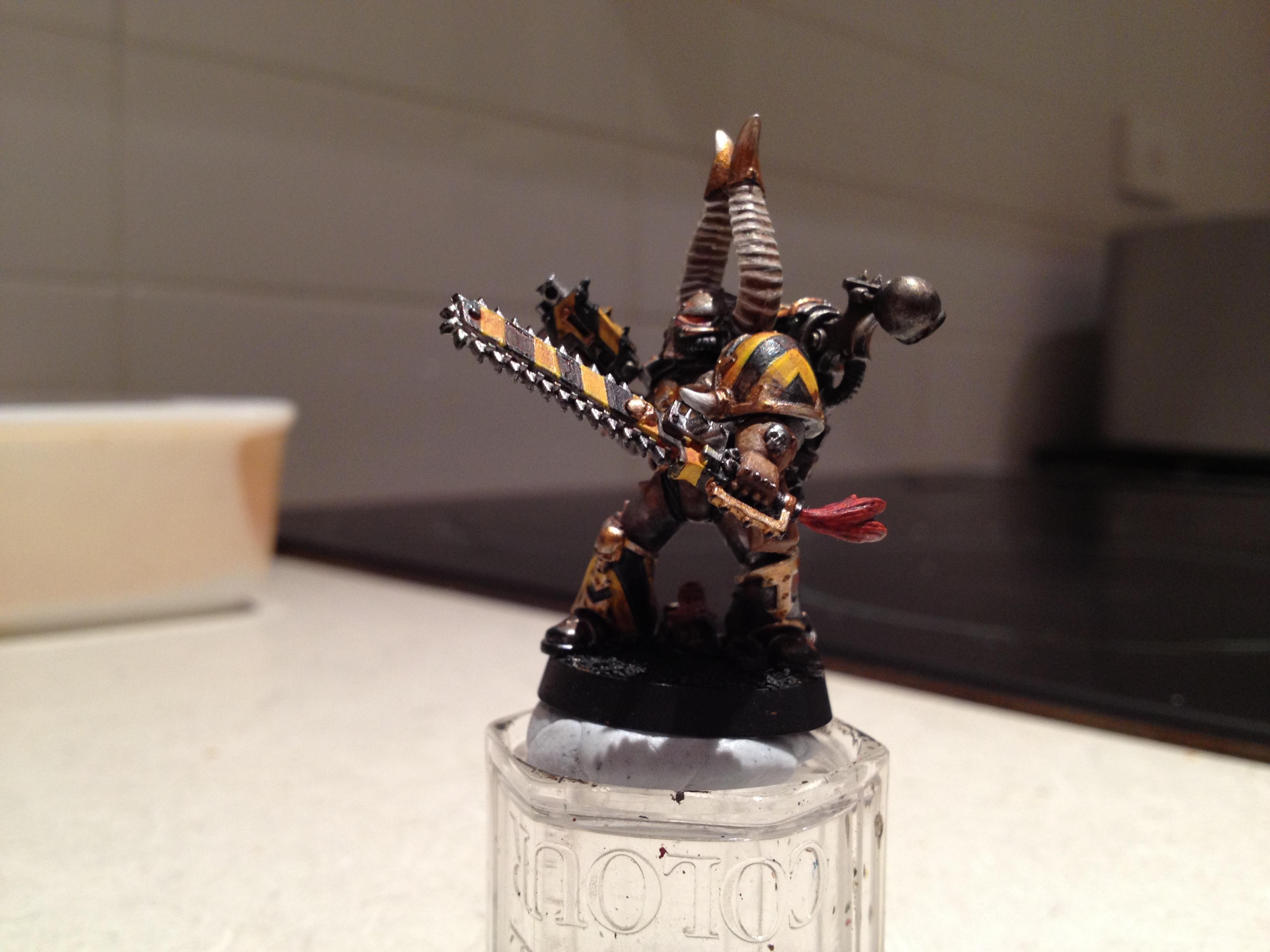 Hazard Stripe, Iron Warriors, Rust, Weathered