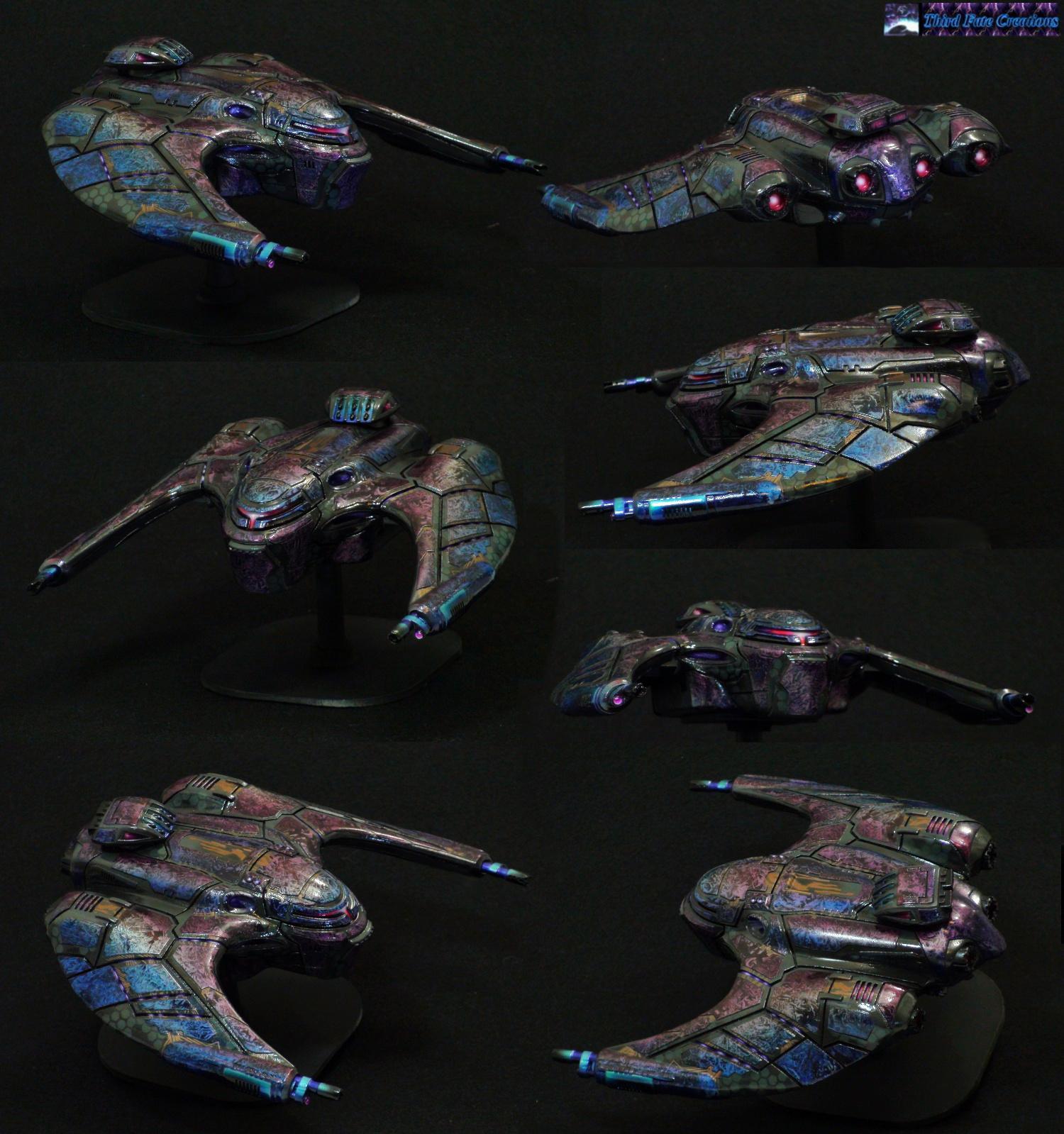 Airbrush, Cylon, Drop Ship, Dropship, Fighter, Hunter, Khurasan Miniatures, Marbling, Ship, Starship, Thirdfatecreations