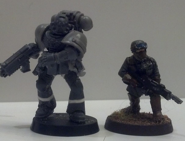 Conversion, Dynamic, Posing, Space Marines, Steel Legion, Tall Scale, True Scale